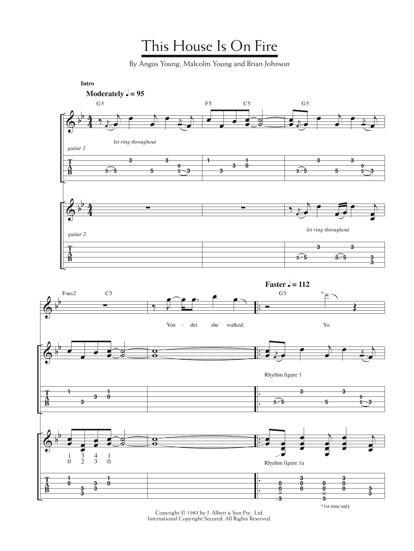 This House Is On Fire Sheet Music