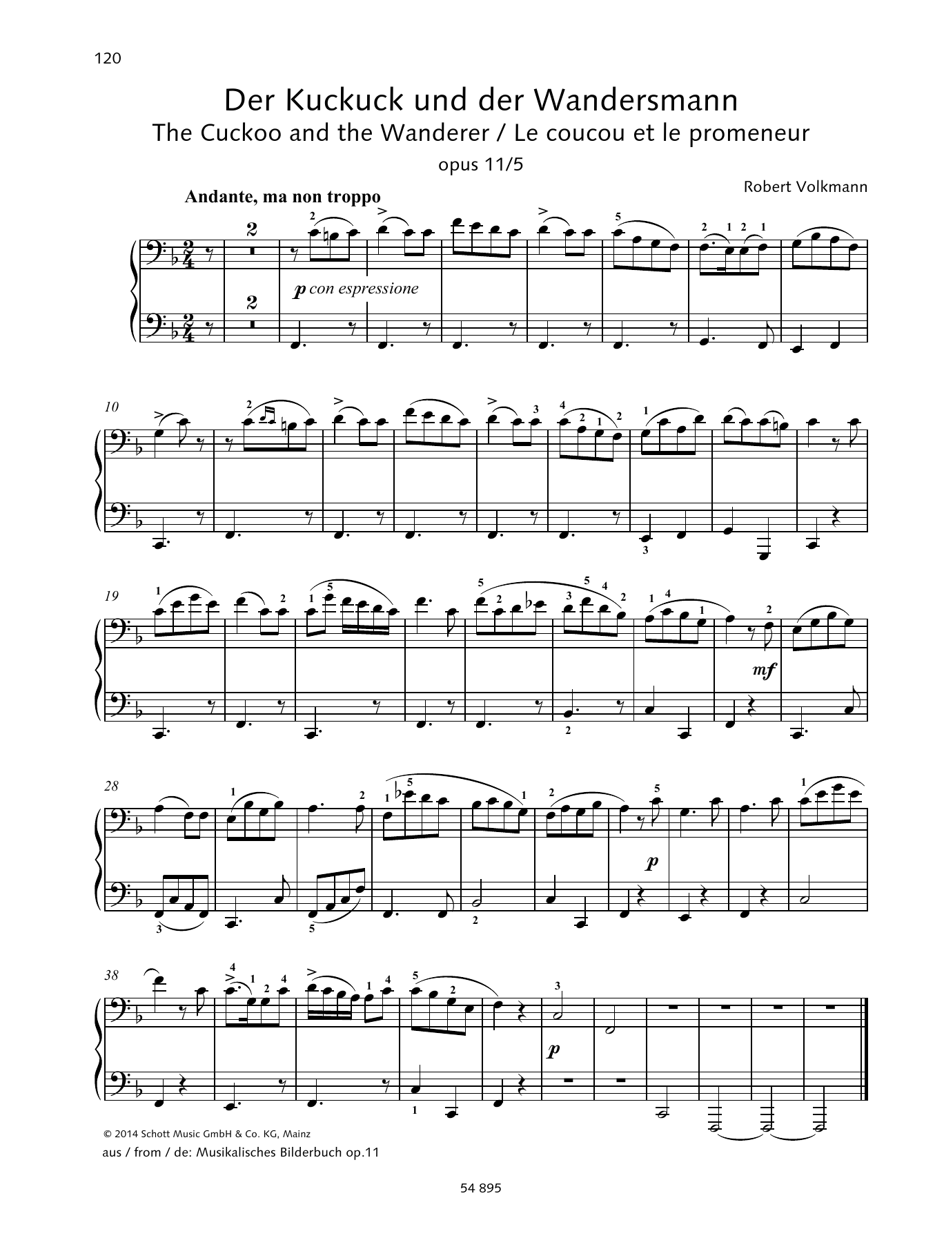 The Cuckoo and the Wanderer Sheet Music
