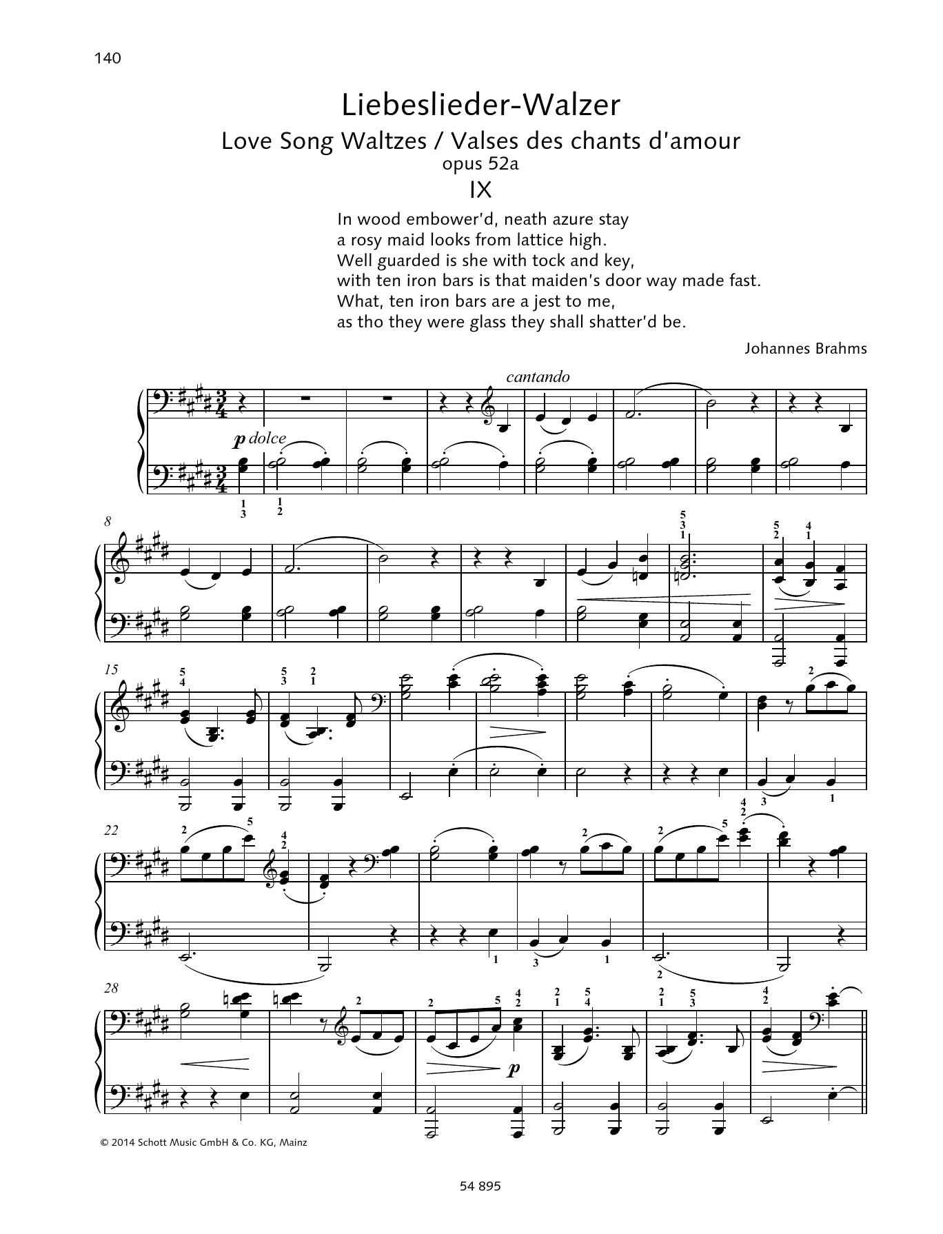 Love Song Waltzes Sheet Music