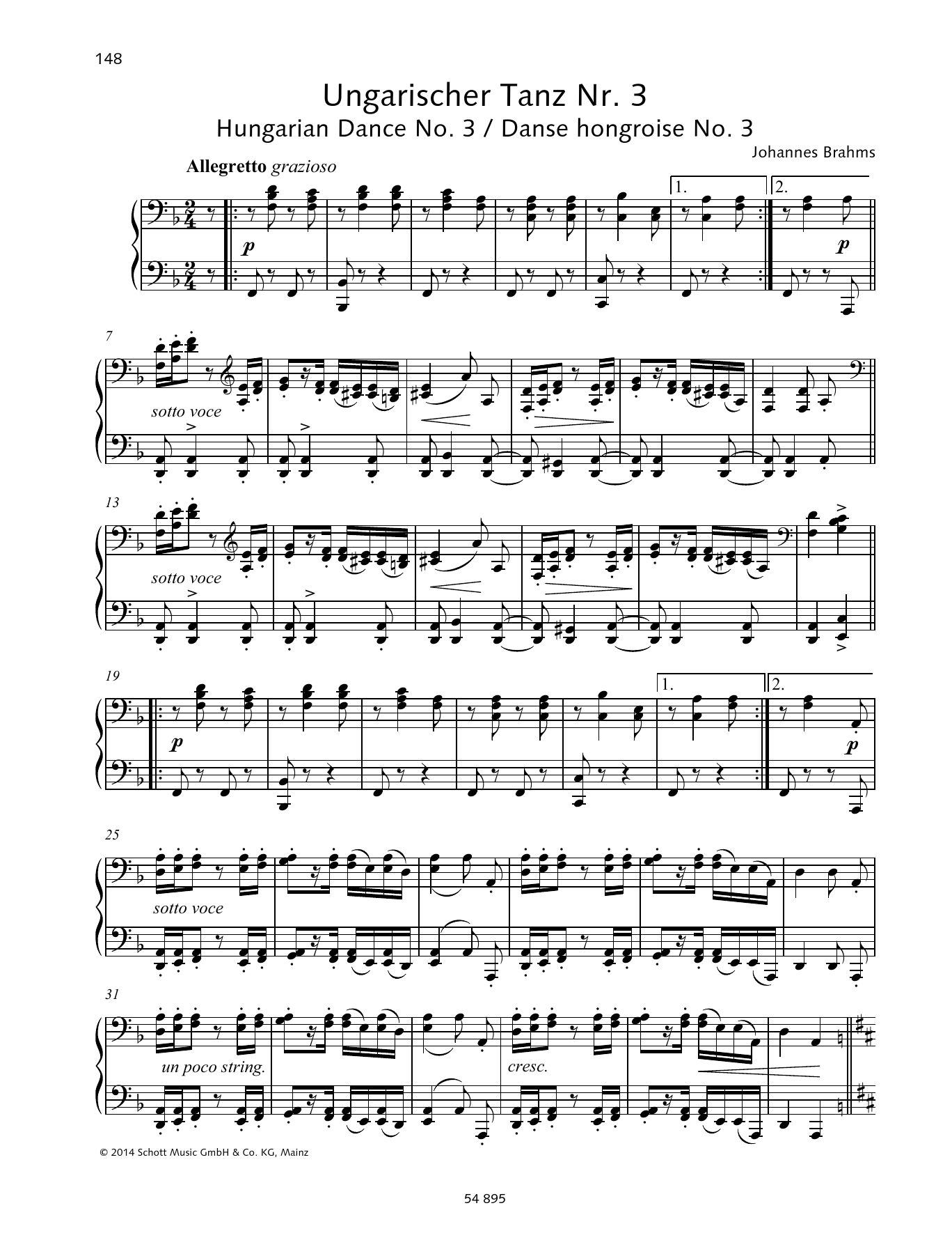 Hungarian Dance No. 3 Sheet Music