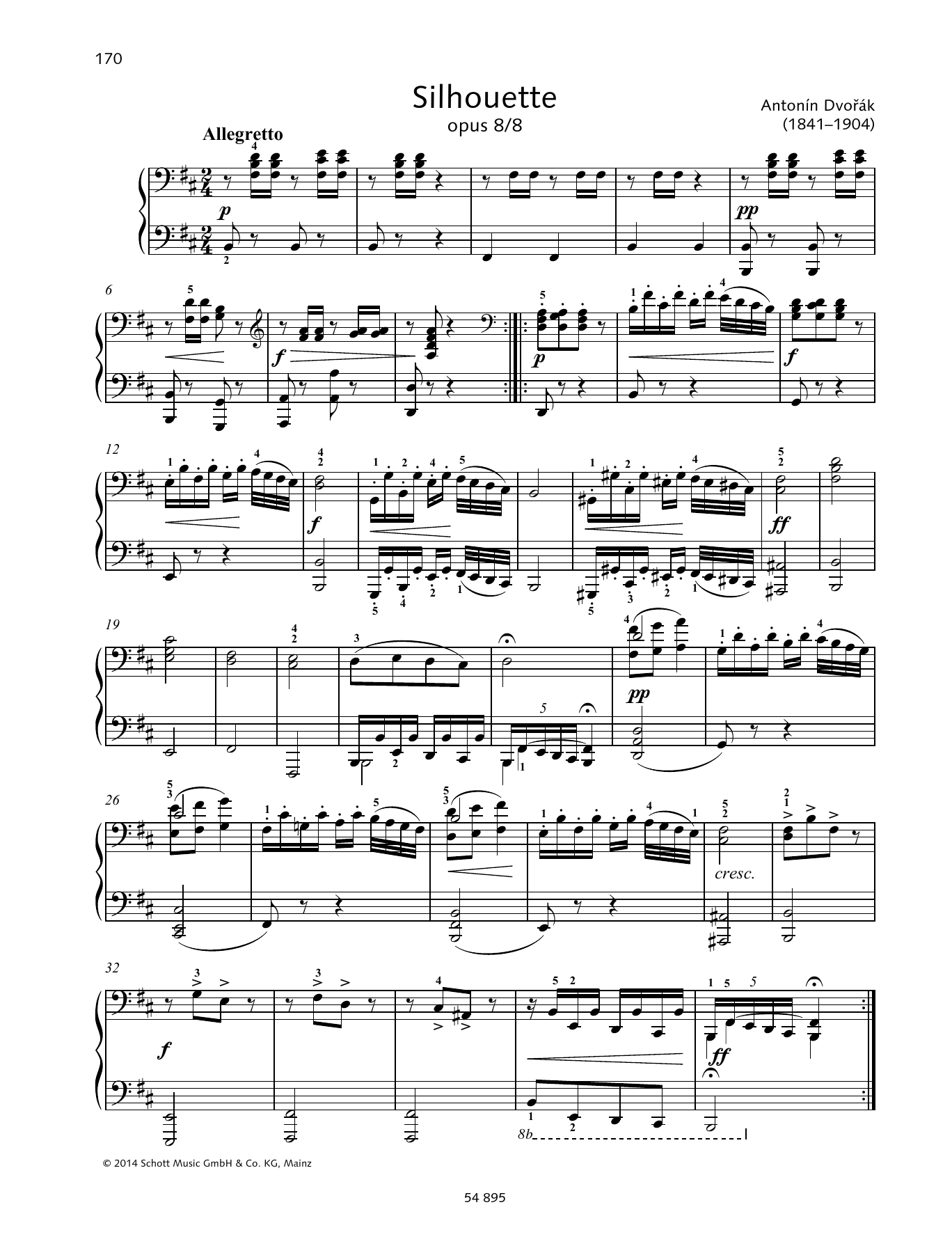 Silhouette Sheet Music