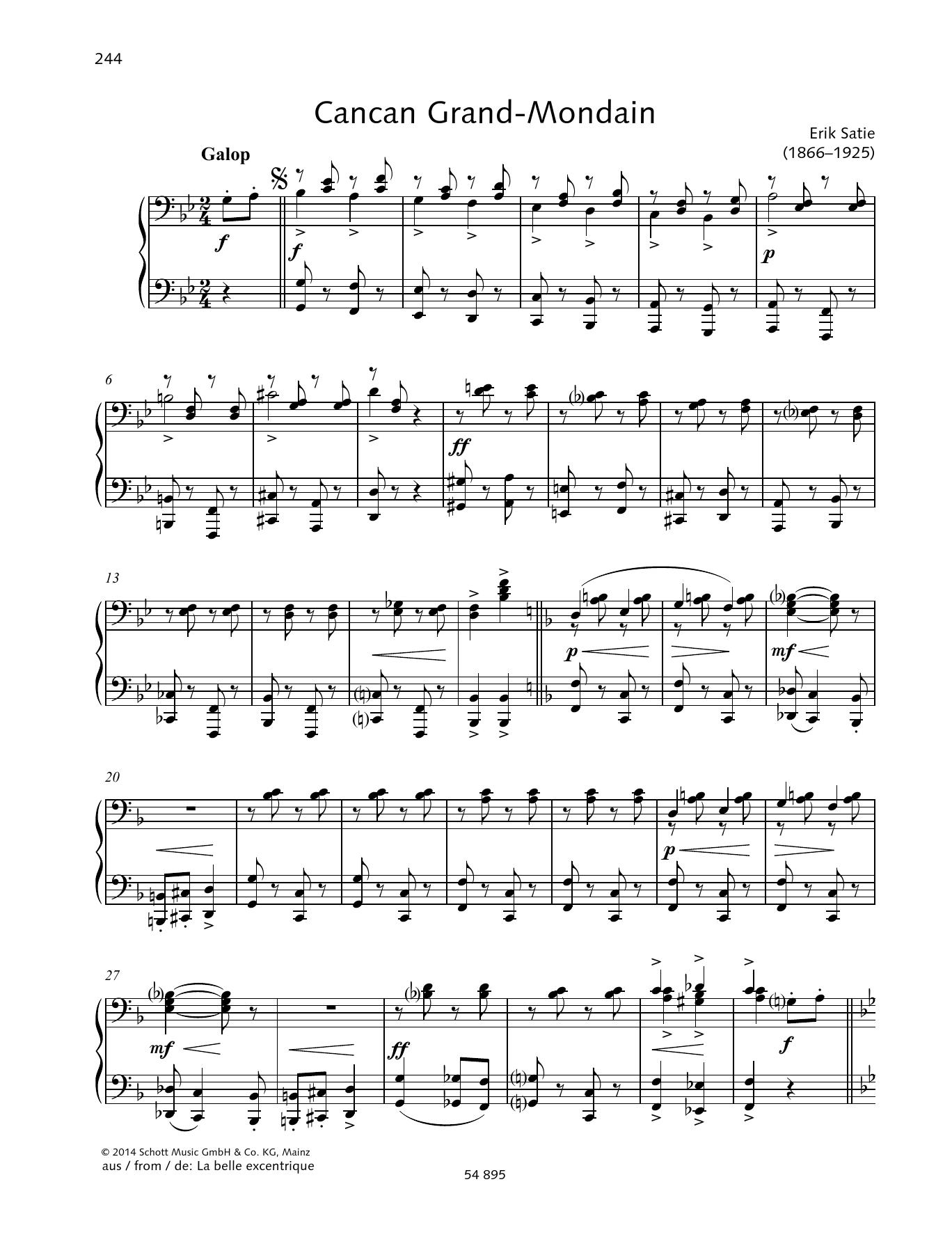 Cancan Grand-Mondain Sheet Music