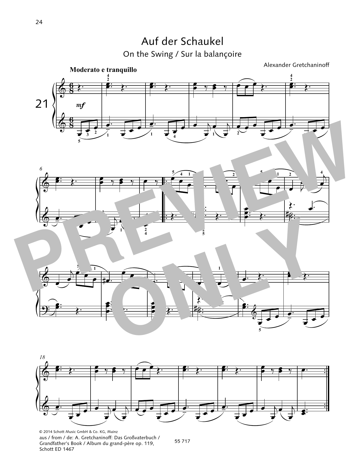 On the Swing Sheet Music