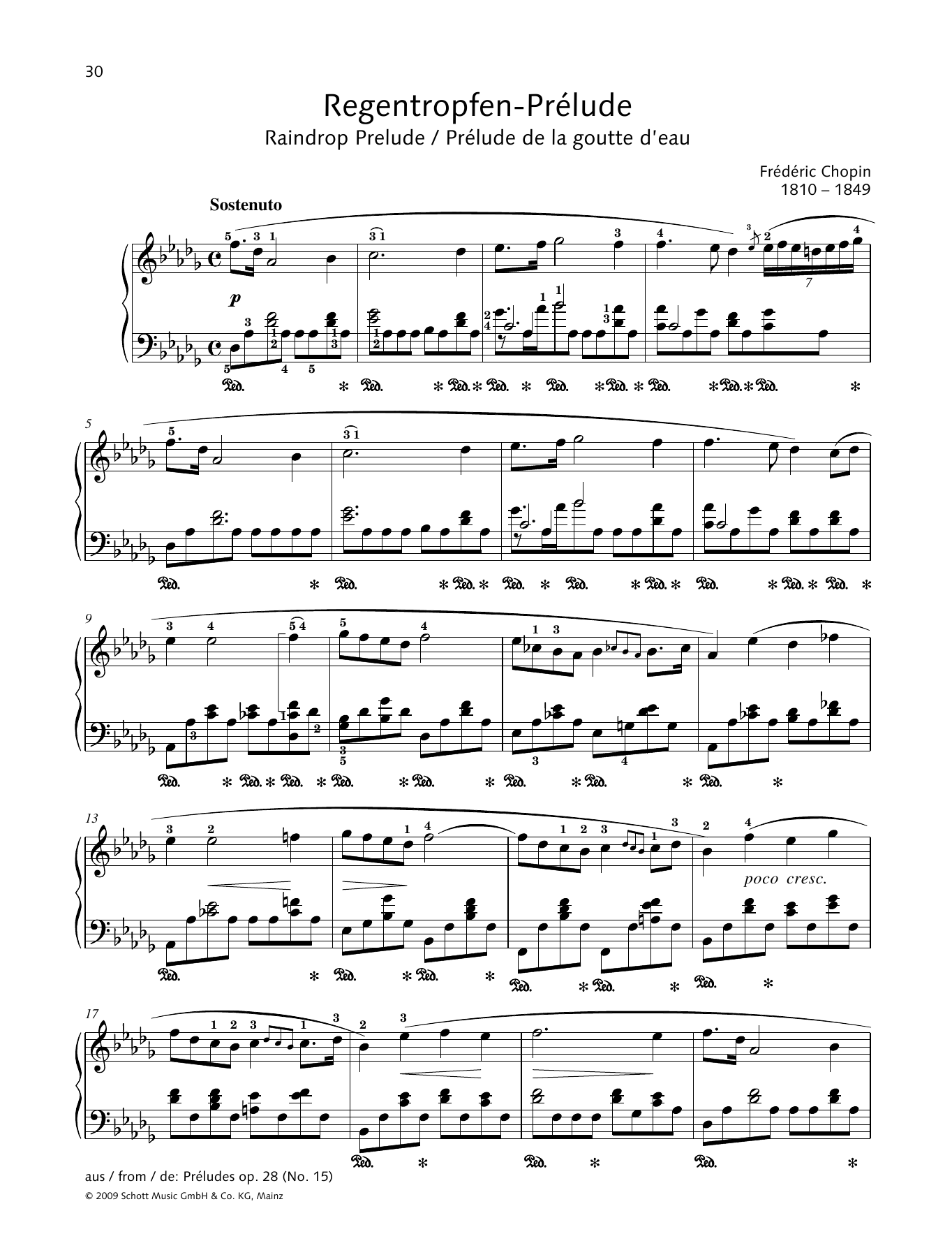Raindrop Prelude Sheet Music