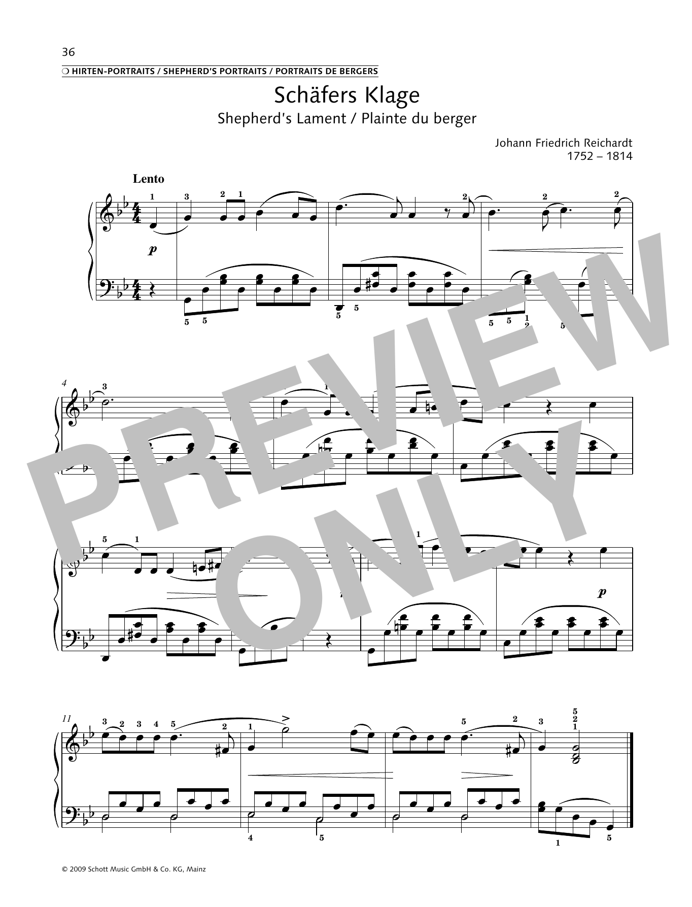 Shepherd's Lament Sheet Music