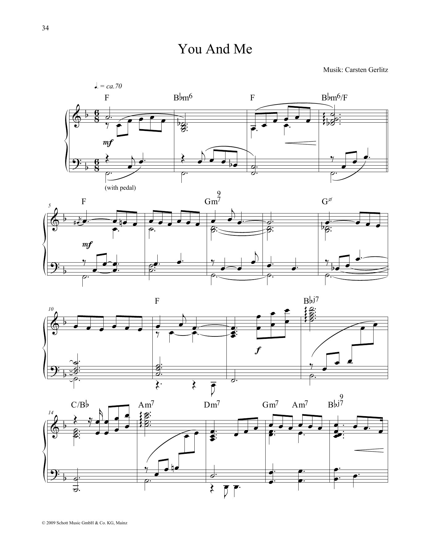 You and Me Sheet Music