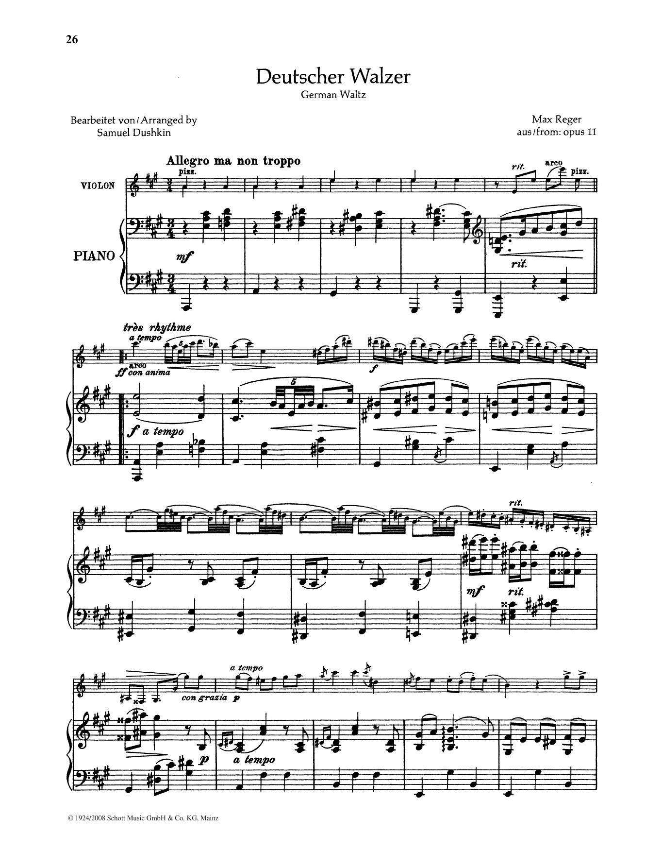 Deutscher Walzer Sheet Music