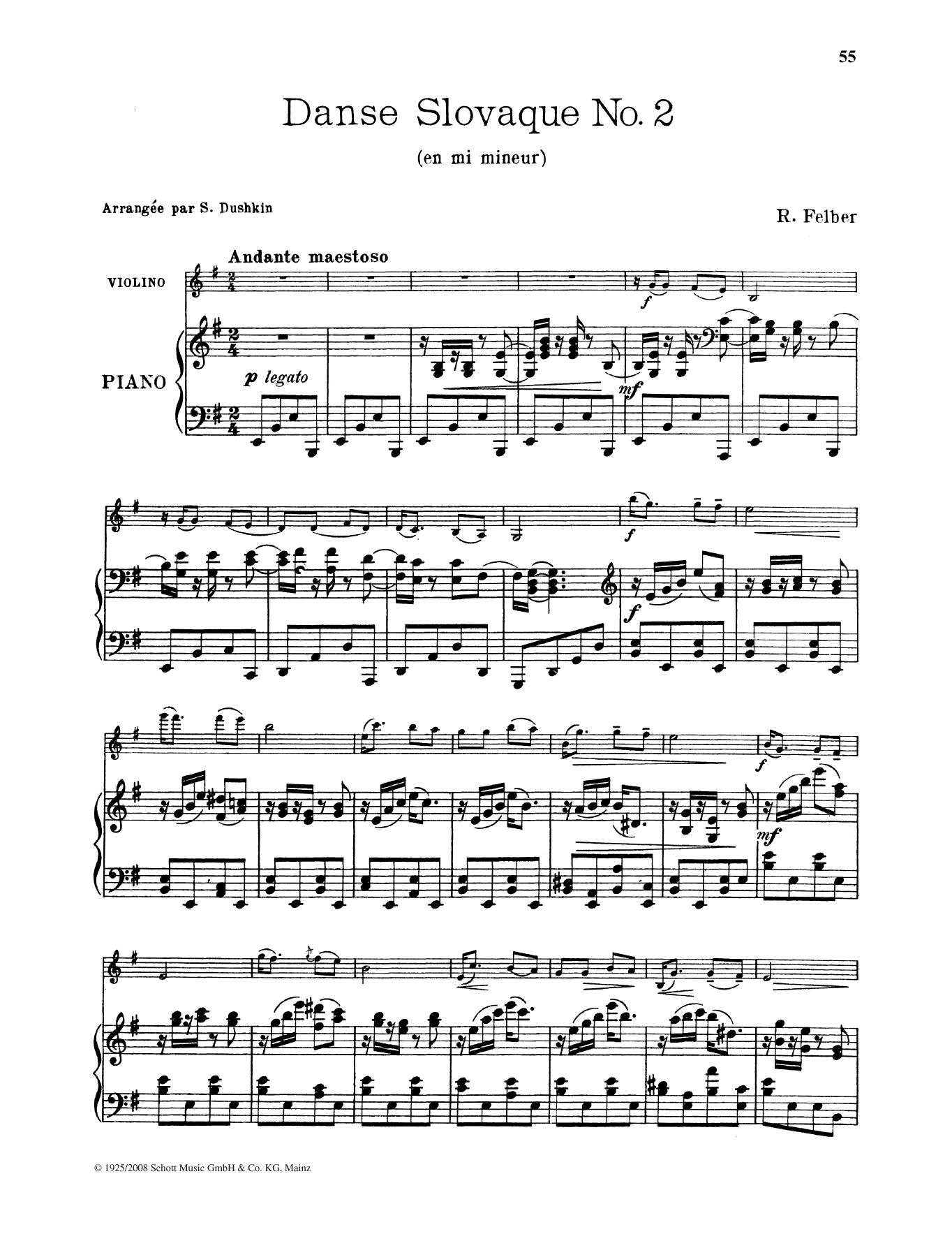 Danse Slovaque No. 2 Sheet Music