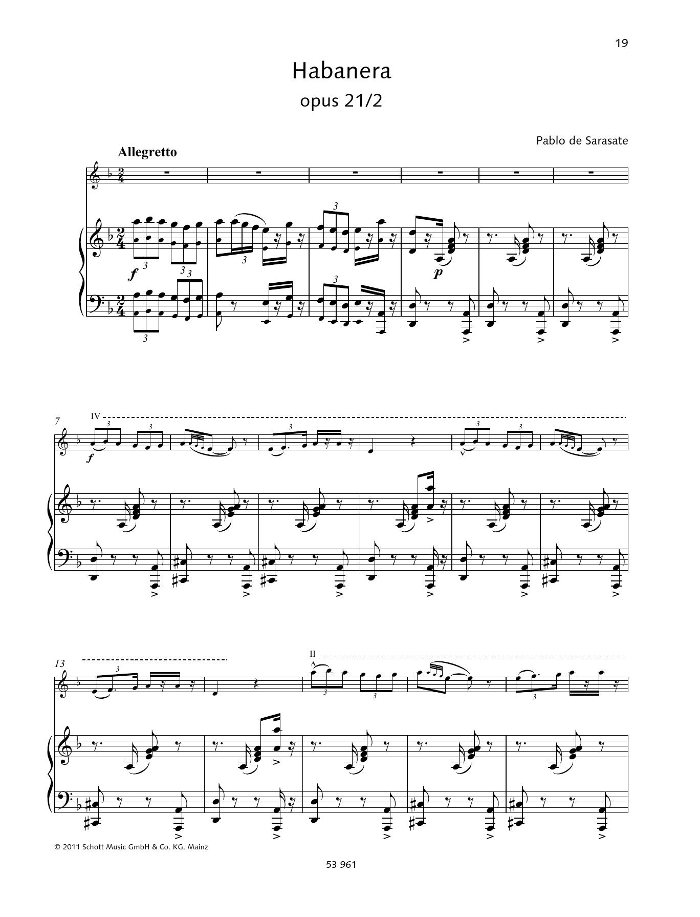 Habañera Sheet Music