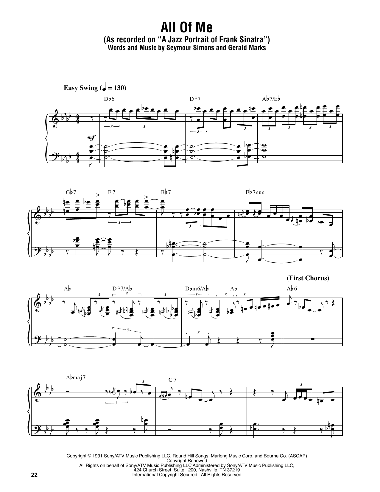 All of me sheet music by oscar peterson piano transcription 179995 all of me sheet music hexwebz Gallery