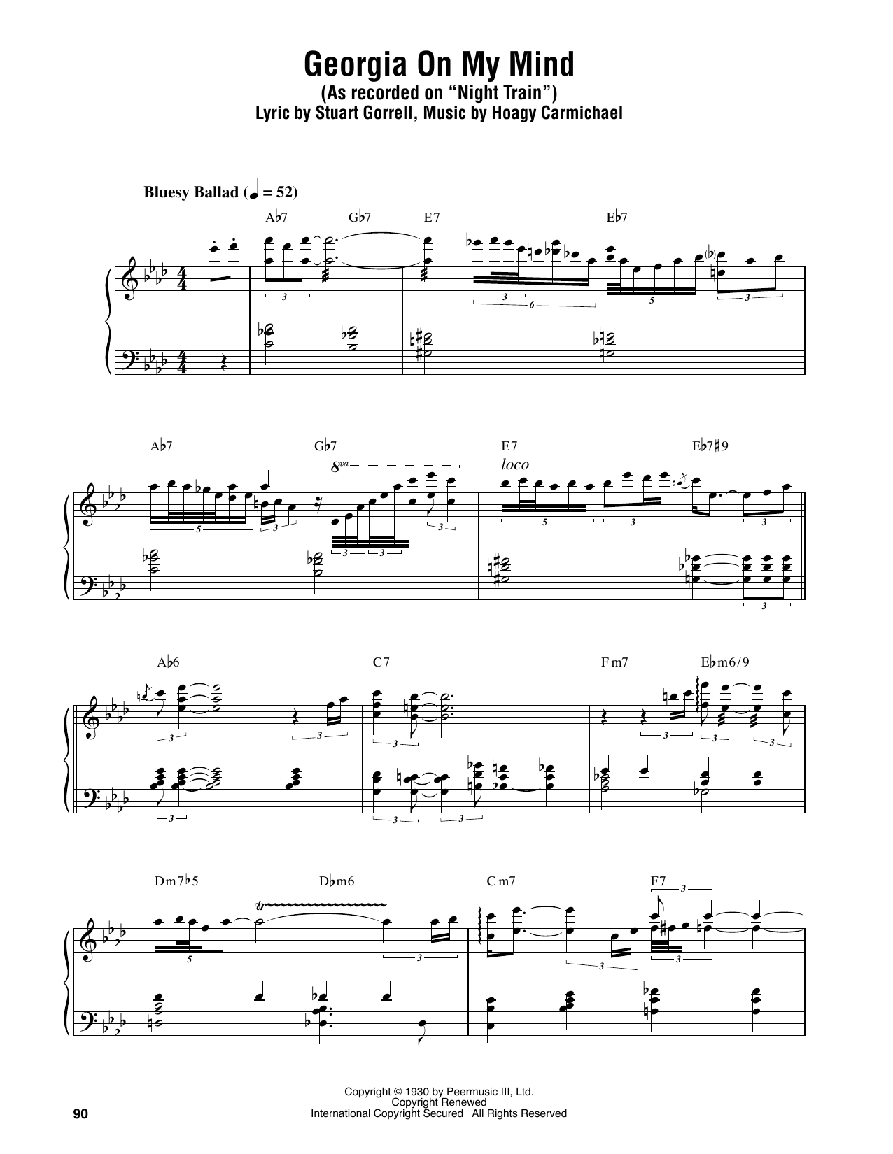 Georgia on my mind sheet music by oscar peterson piano georgia on my mind sheet music hexwebz Image collections