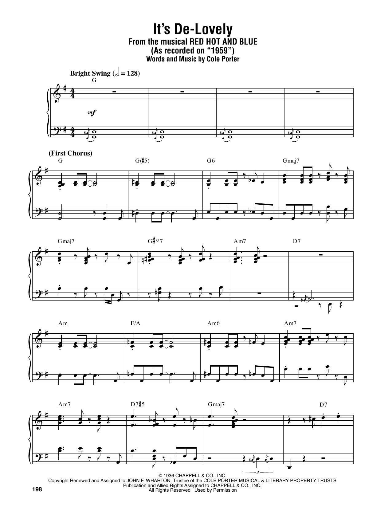 It's De-Lovely (Piano Transcription)
