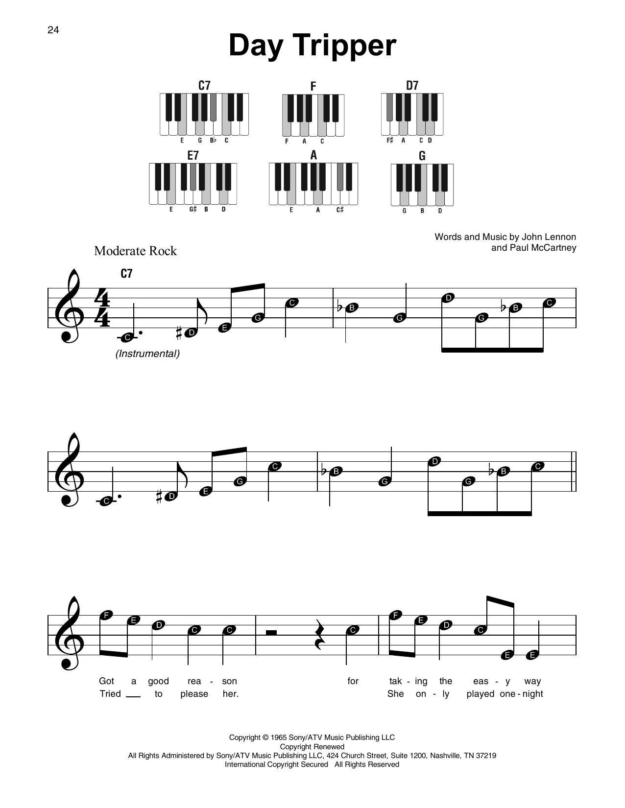 Day Tripper (Super Easy Piano)