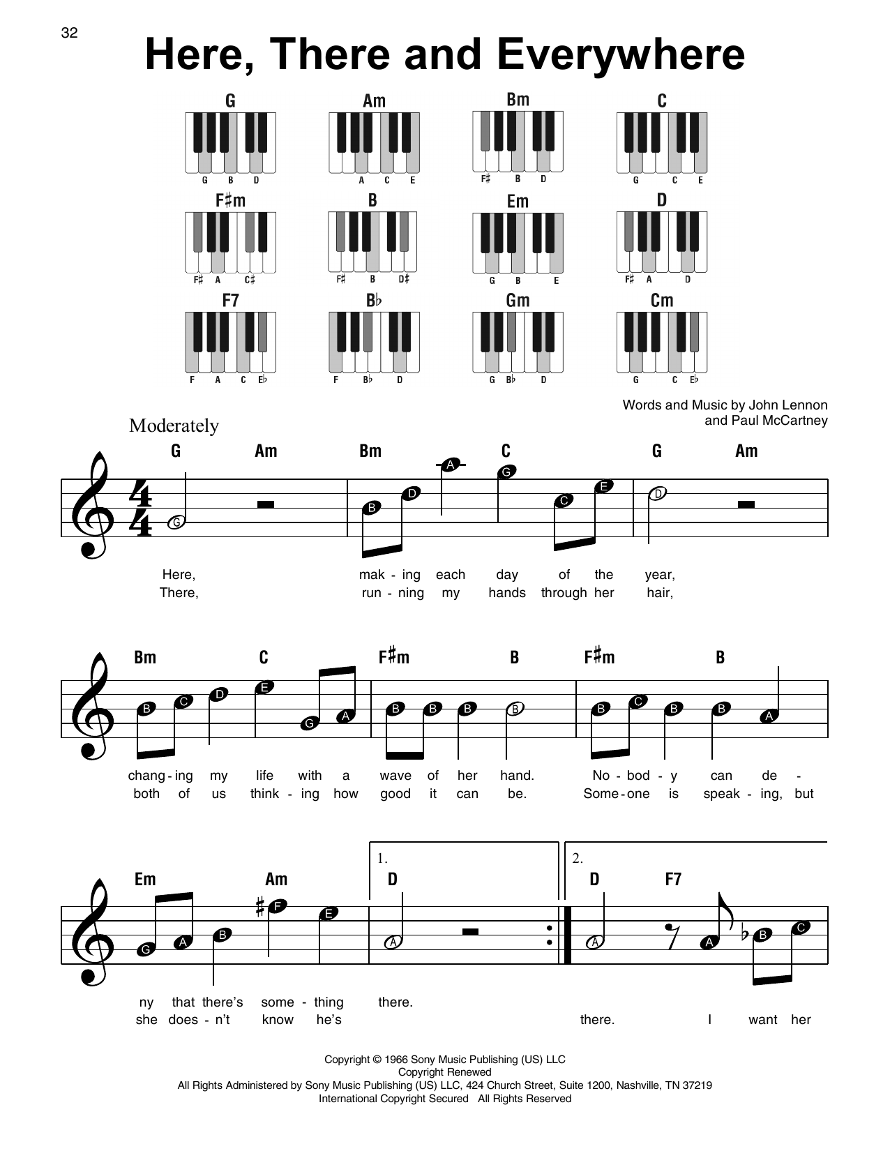 Here, There And Everywhere Sheet Music