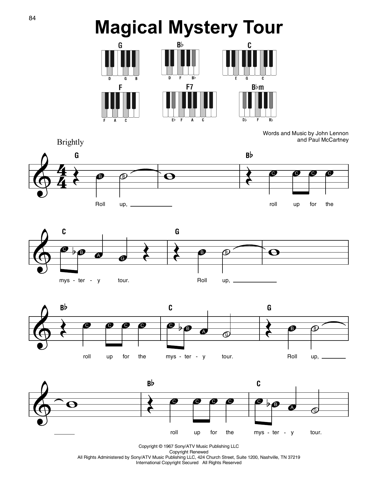 Magical Mystery Tour (Super Easy Piano)