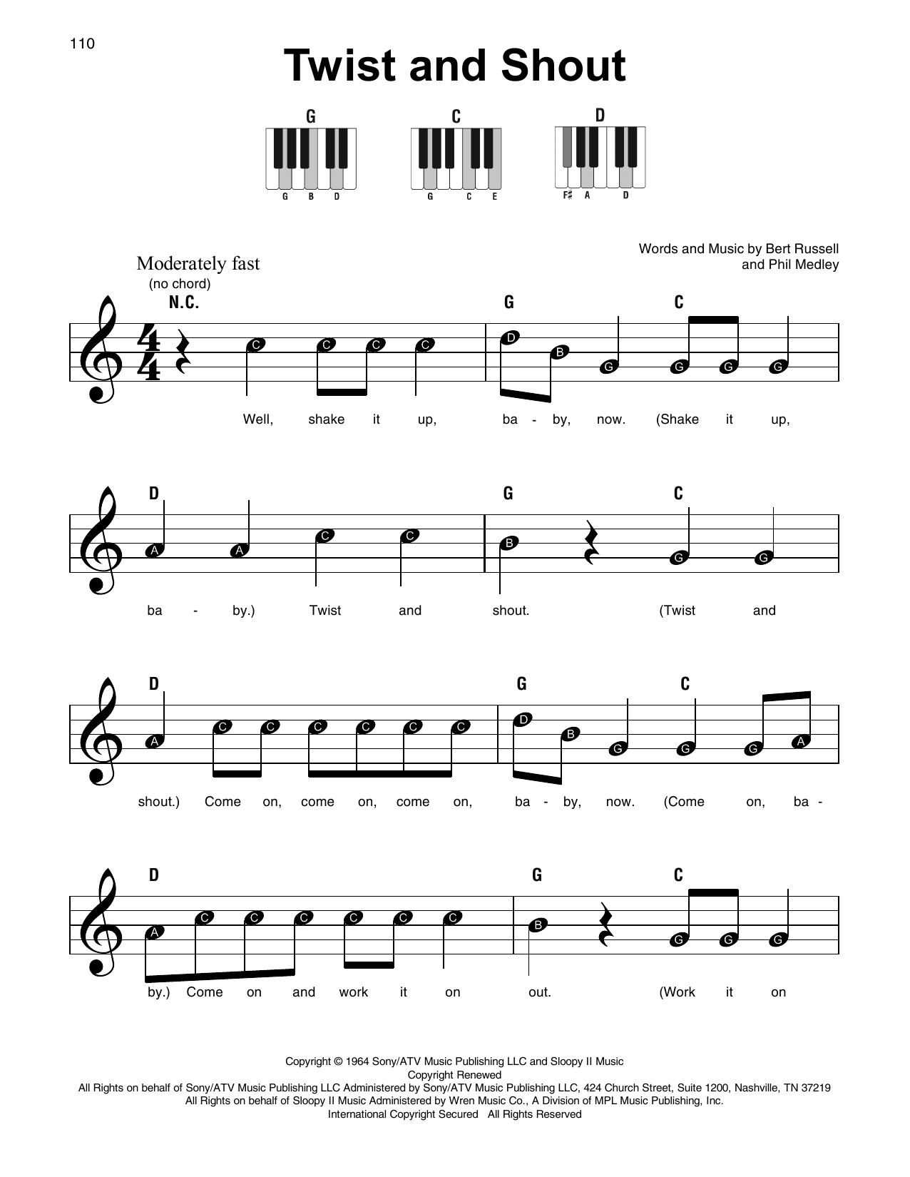 Twist And Shout (Super Easy Piano)