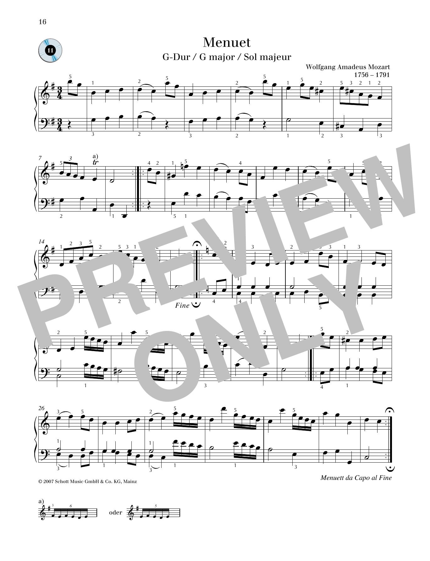 Minuet G major Sheet Music