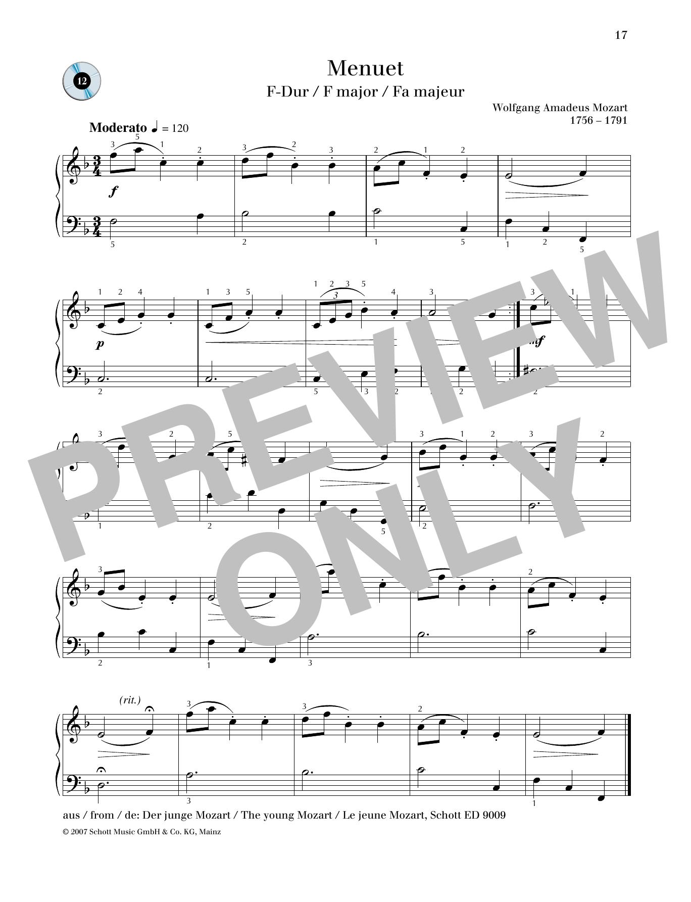Minuet F major Sheet Music