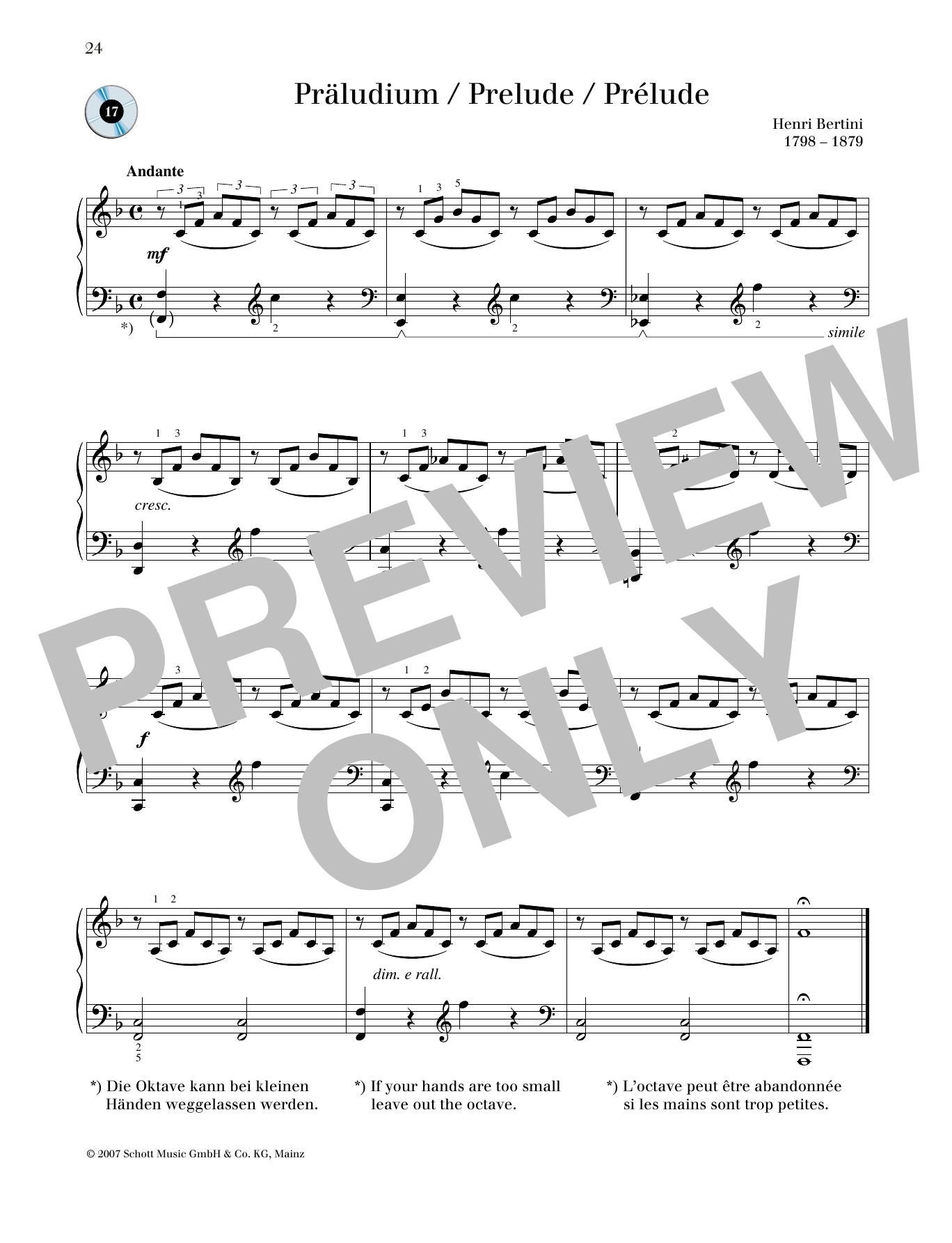 Prélude Sheet Music