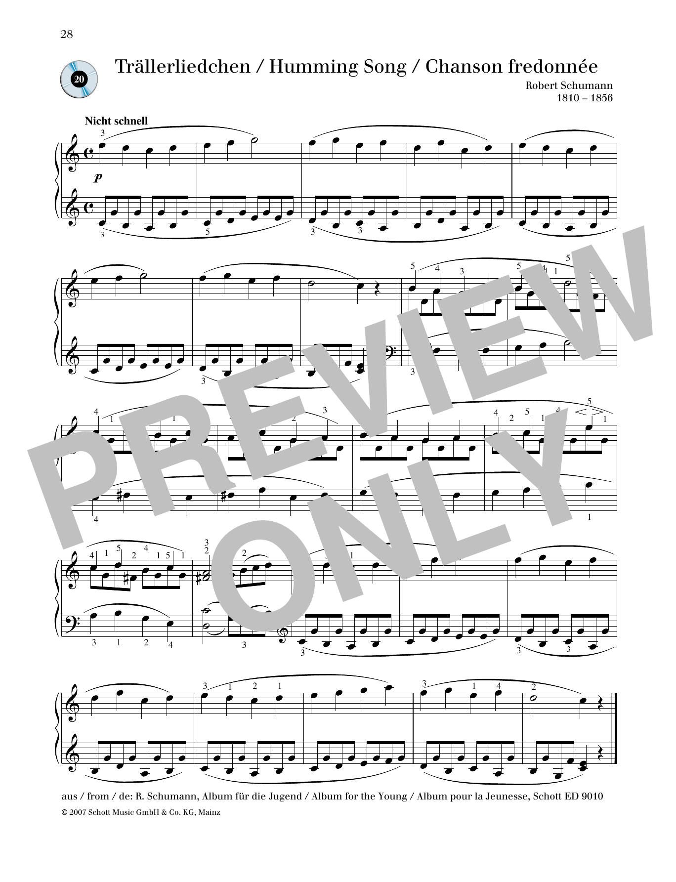 Humming Song Sheet Music