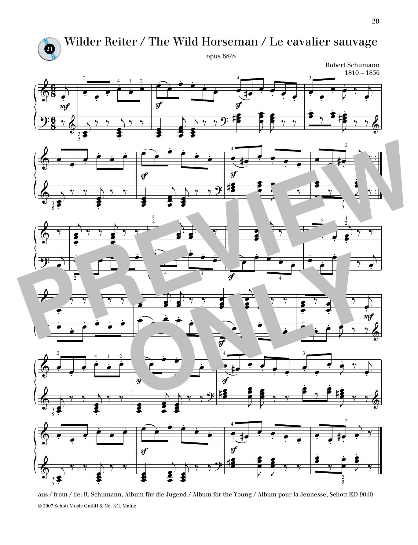 Wild Horseman Sheet Music