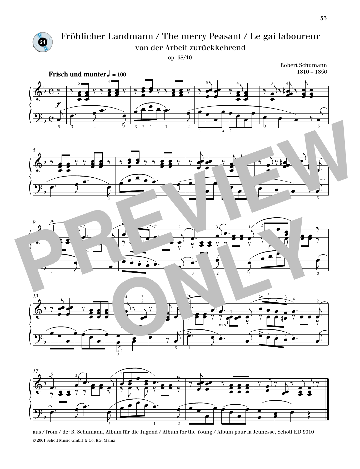 The Merry Peasant Sheet Music