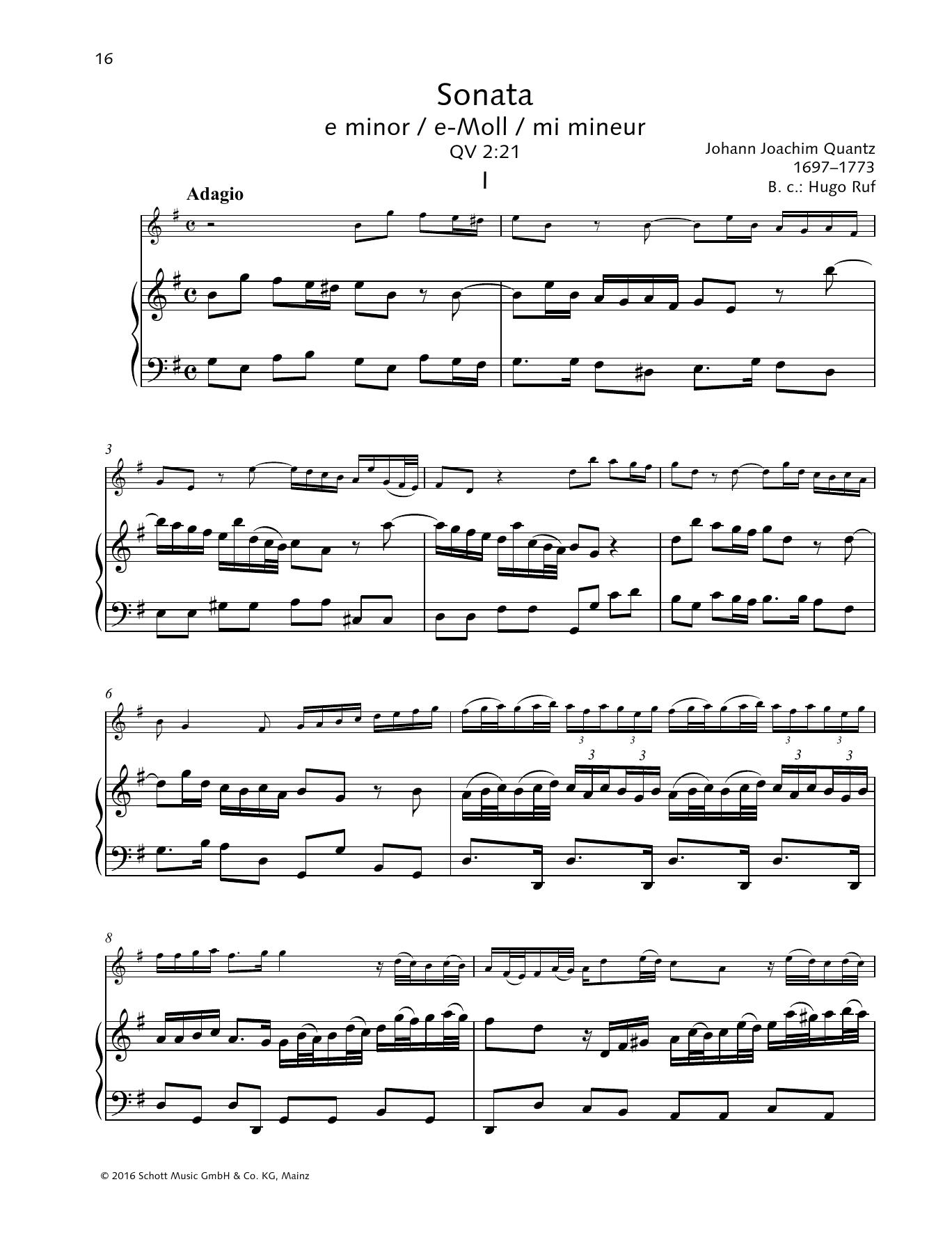 Sonata E minor Sheet Music