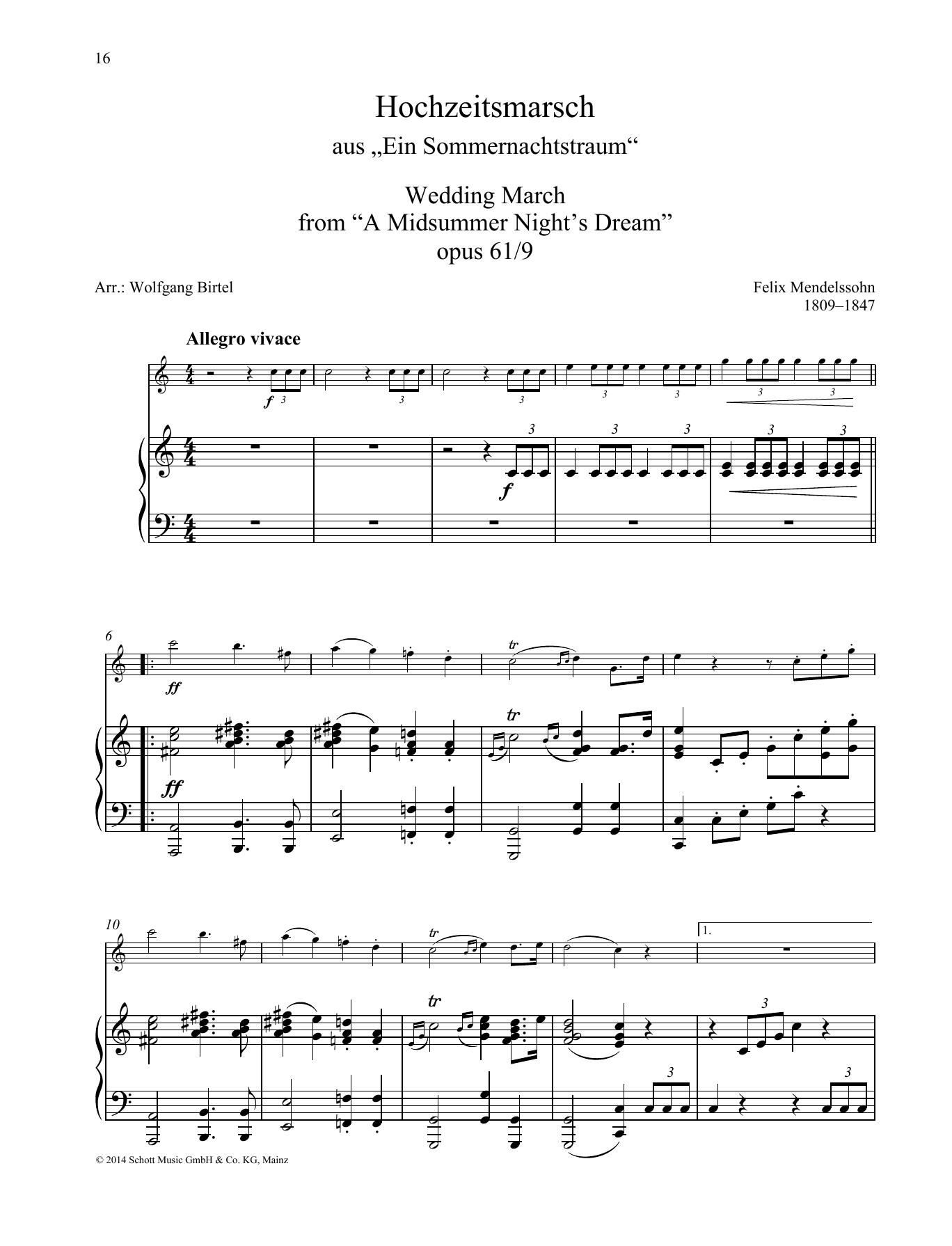 Wedding March Sheet Music