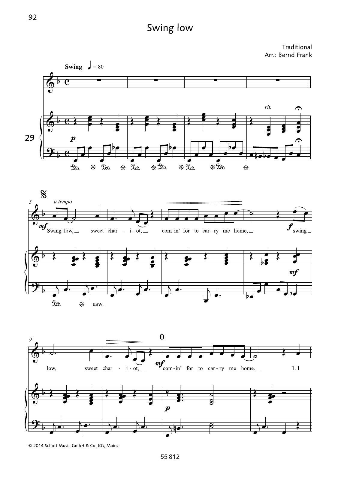 Swing Low Sheet Music