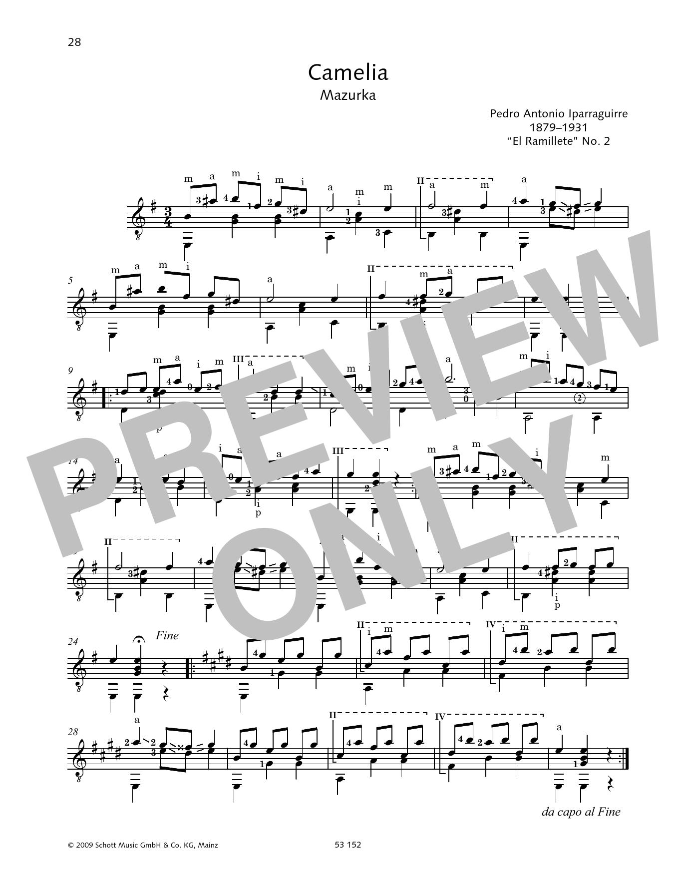 Camelia Sheet Music