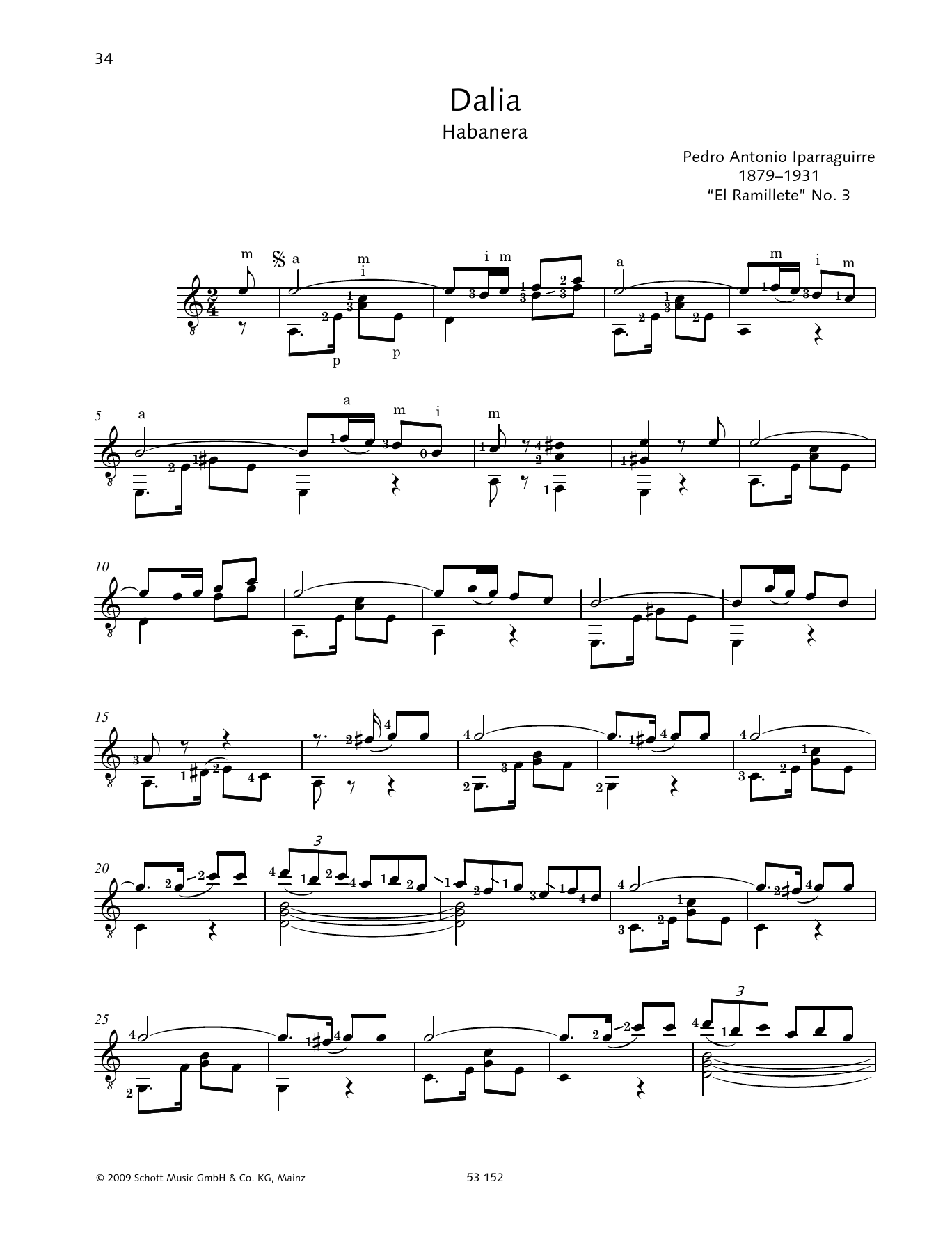 Dalia Sheet Music