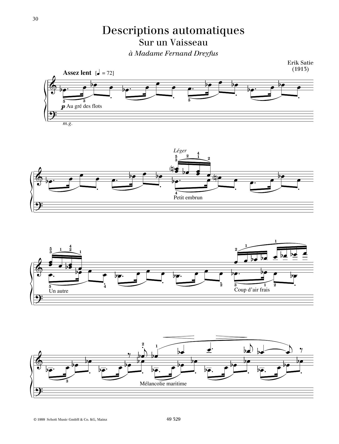 Sur un Vaisseau Sheet Music