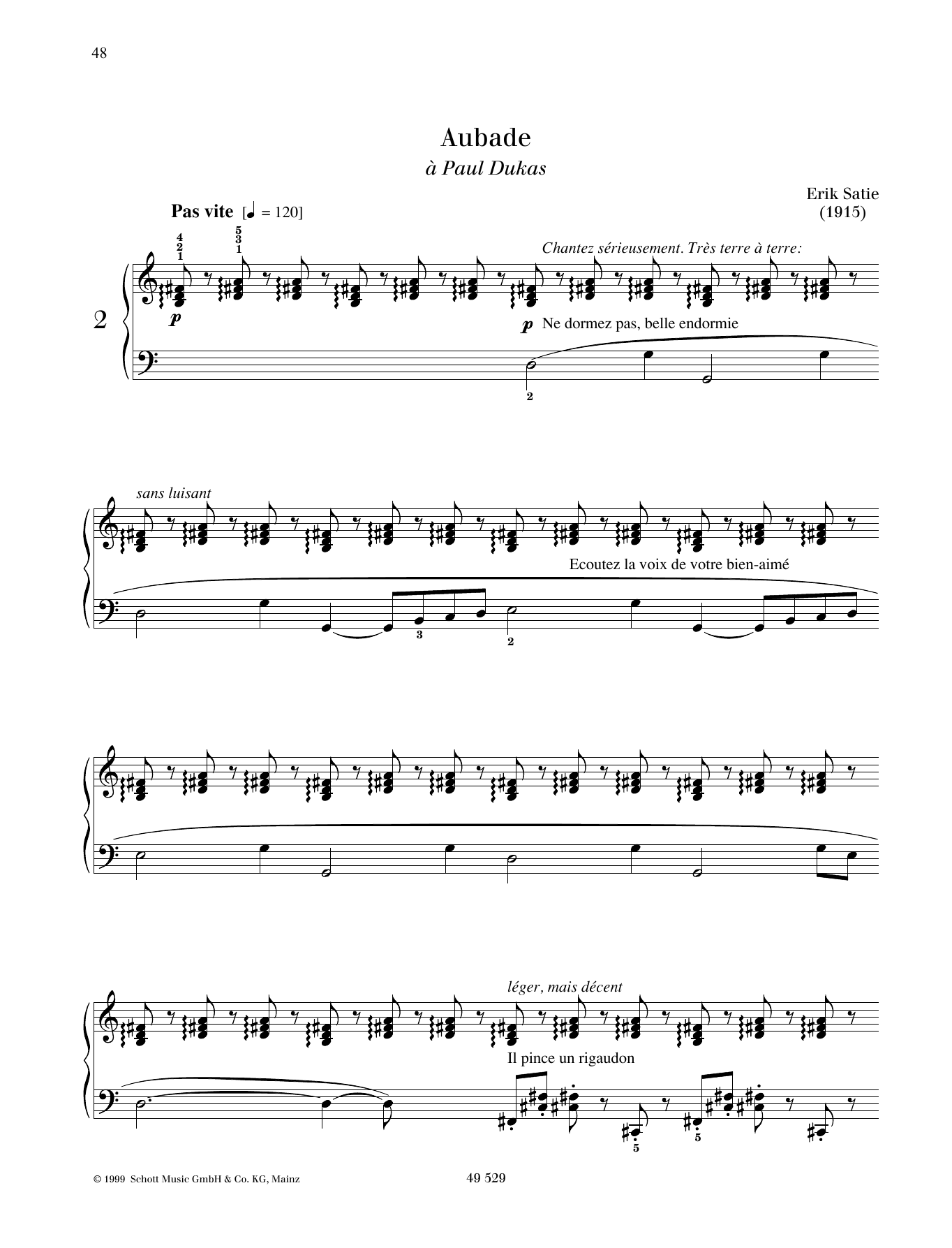 Aubade Sheet Music