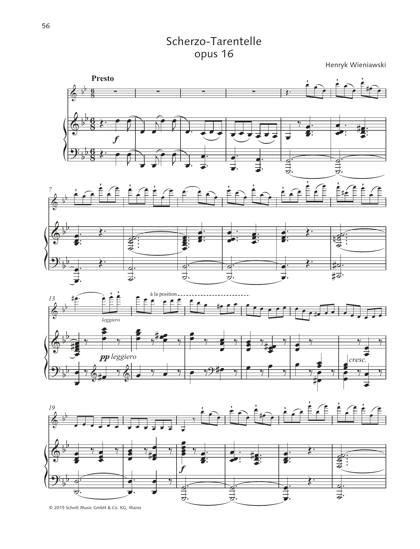 Scherzo-Tarantelle Sheet Music