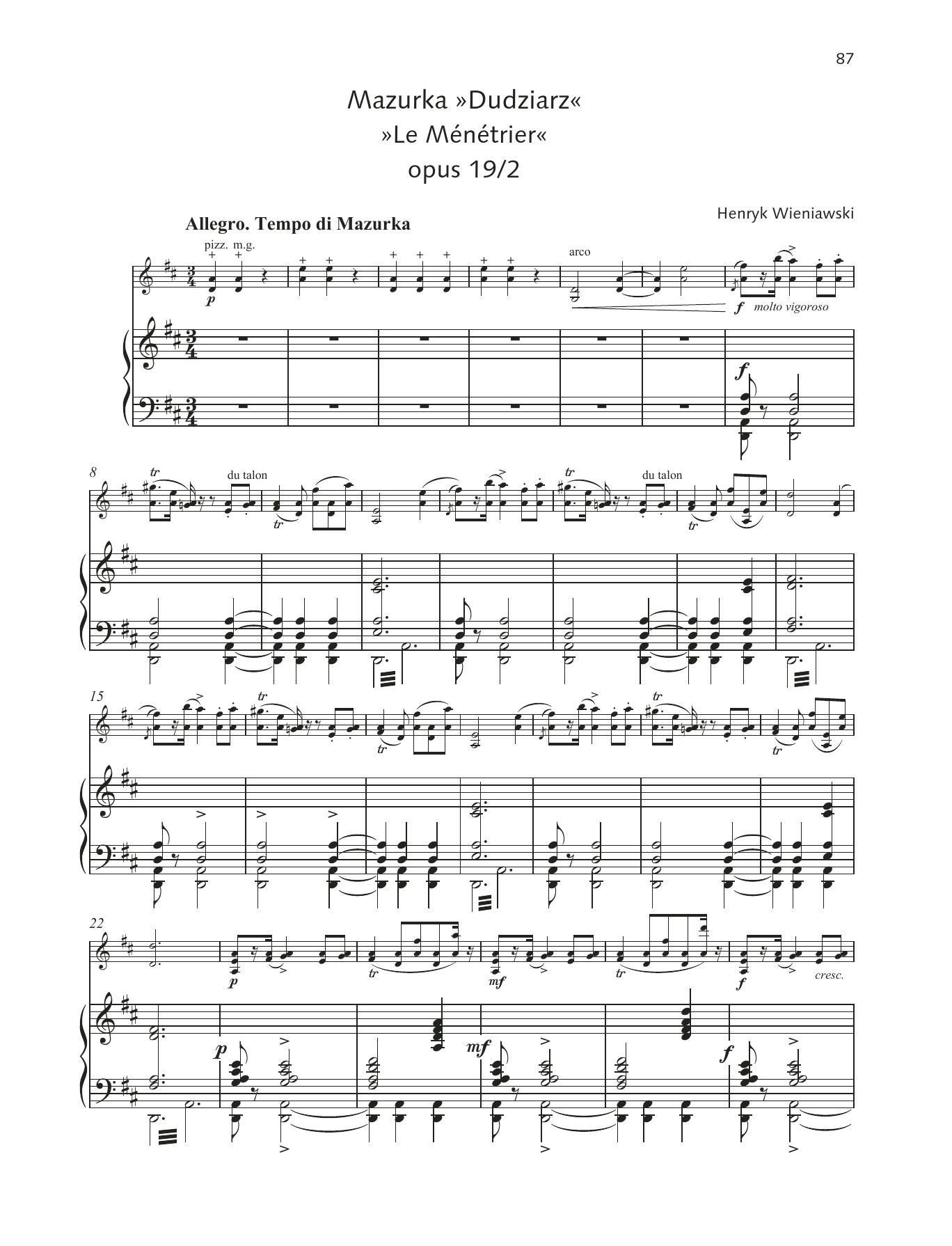 """Mazurka """"Dudziarz"""" Sheet Music"""