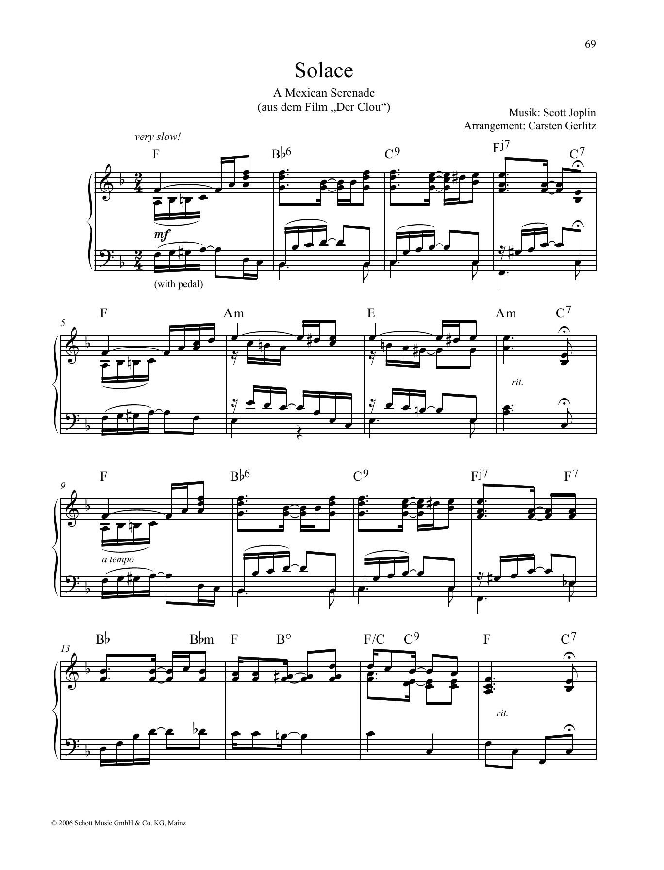 Solace Sheet Music