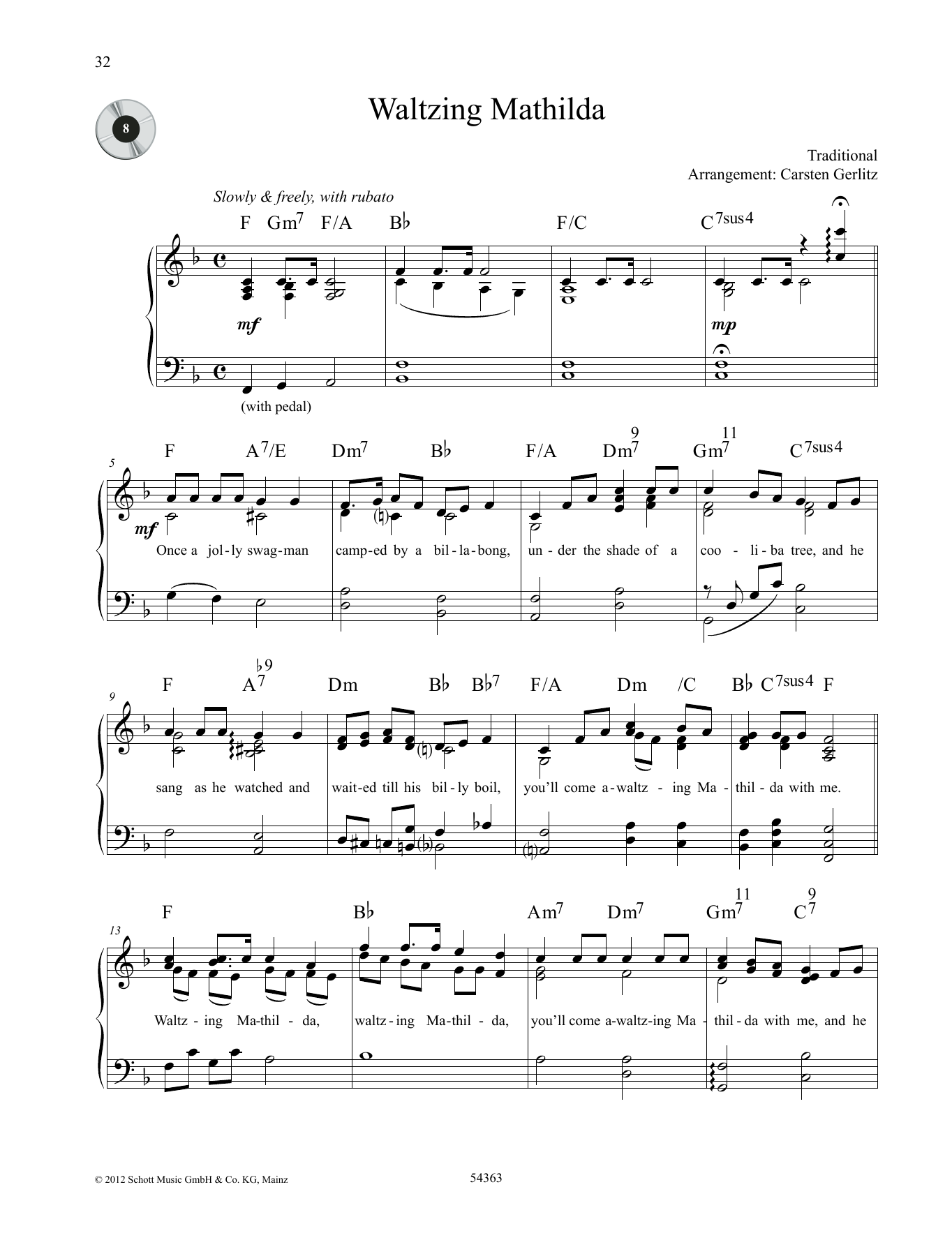 Waltzing Mathilda Sheet Music