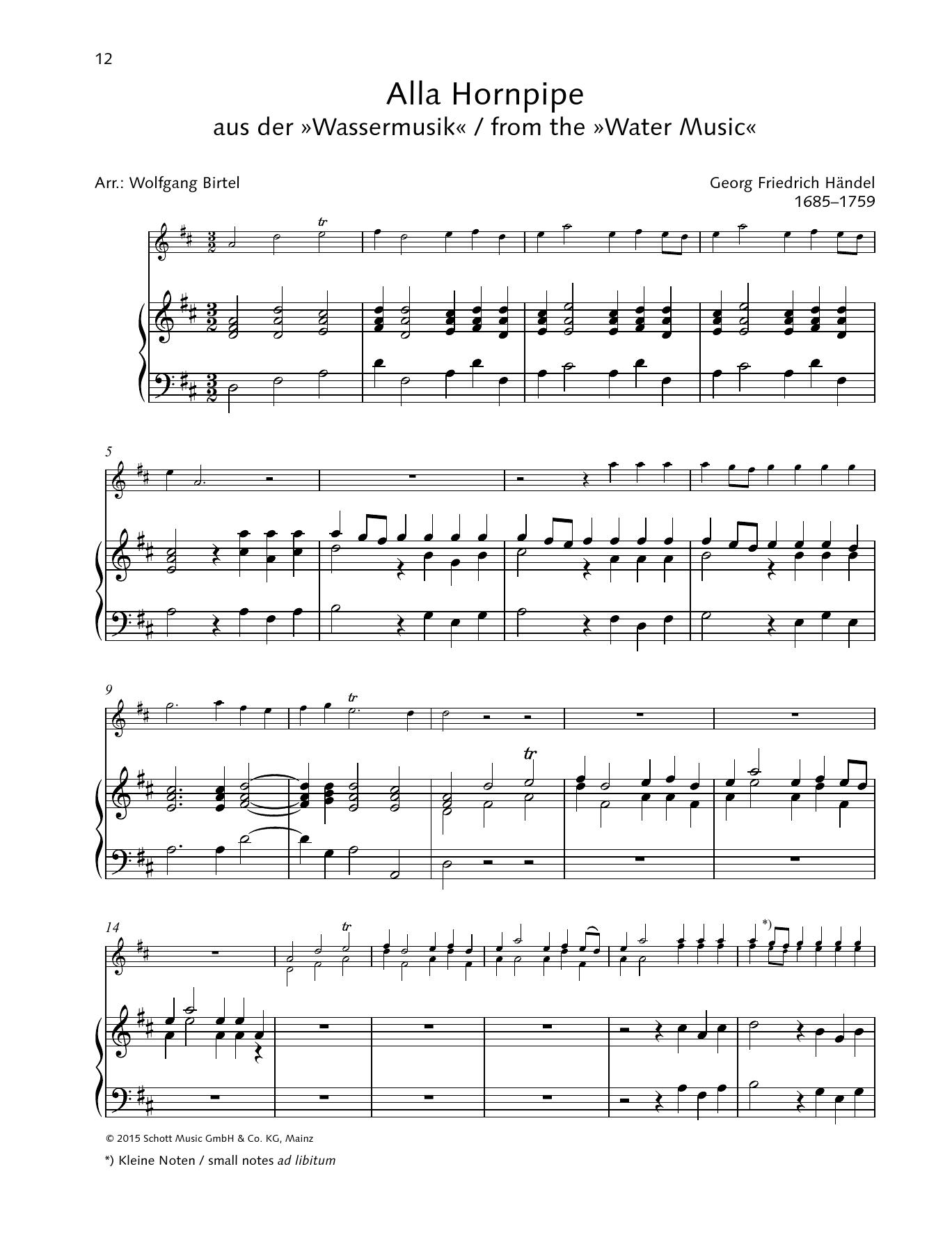 Alla Hornpipe Sheet Music