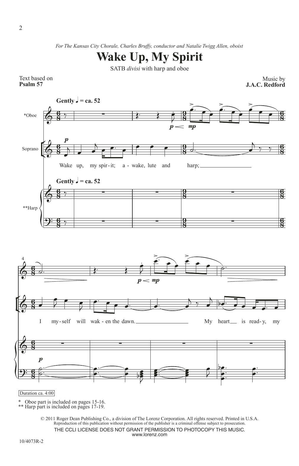 Wake Up, My Spirit (SATB Choir)