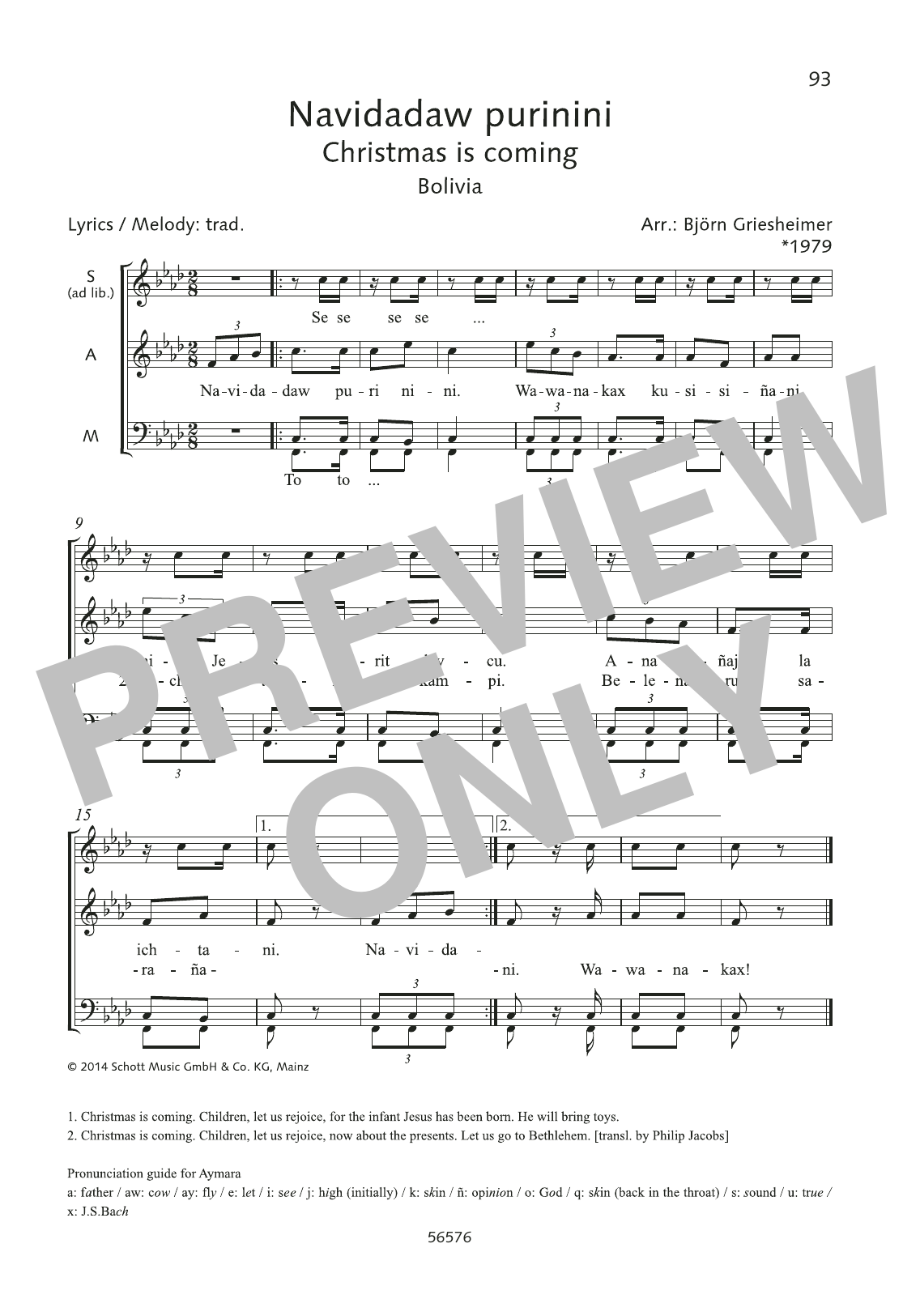Navidadaw purinini Sheet Music