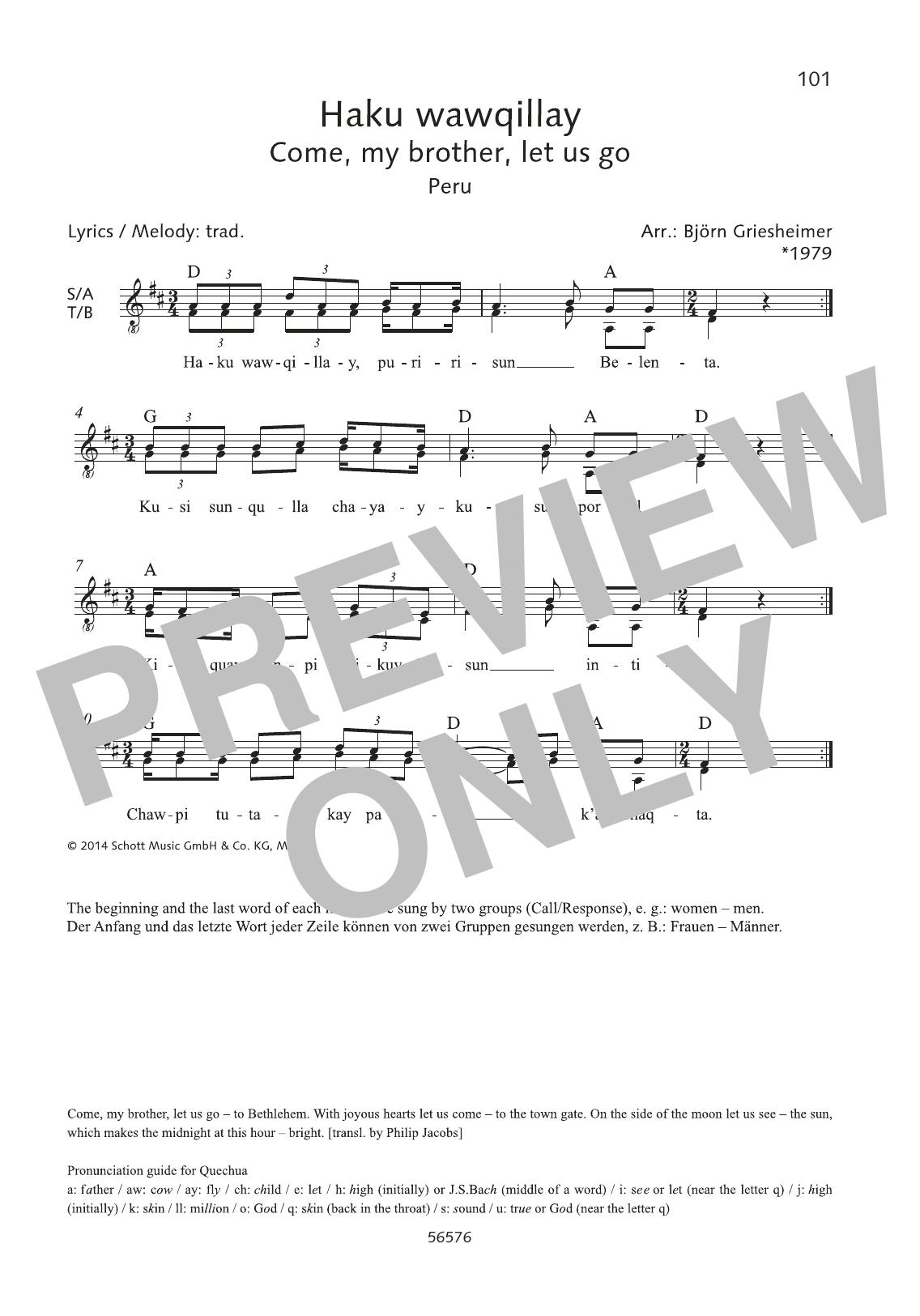 Haku wawqillay Sheet Music