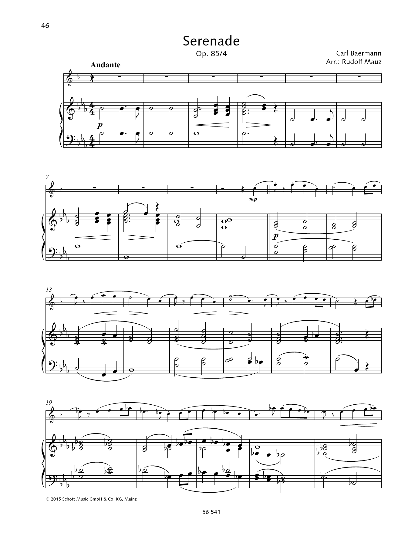 Serenade Sheet Music