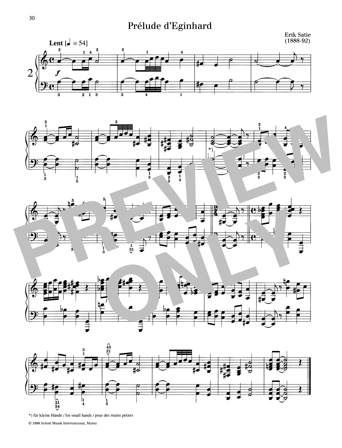 Prelude d'Eginhard Sheet Music