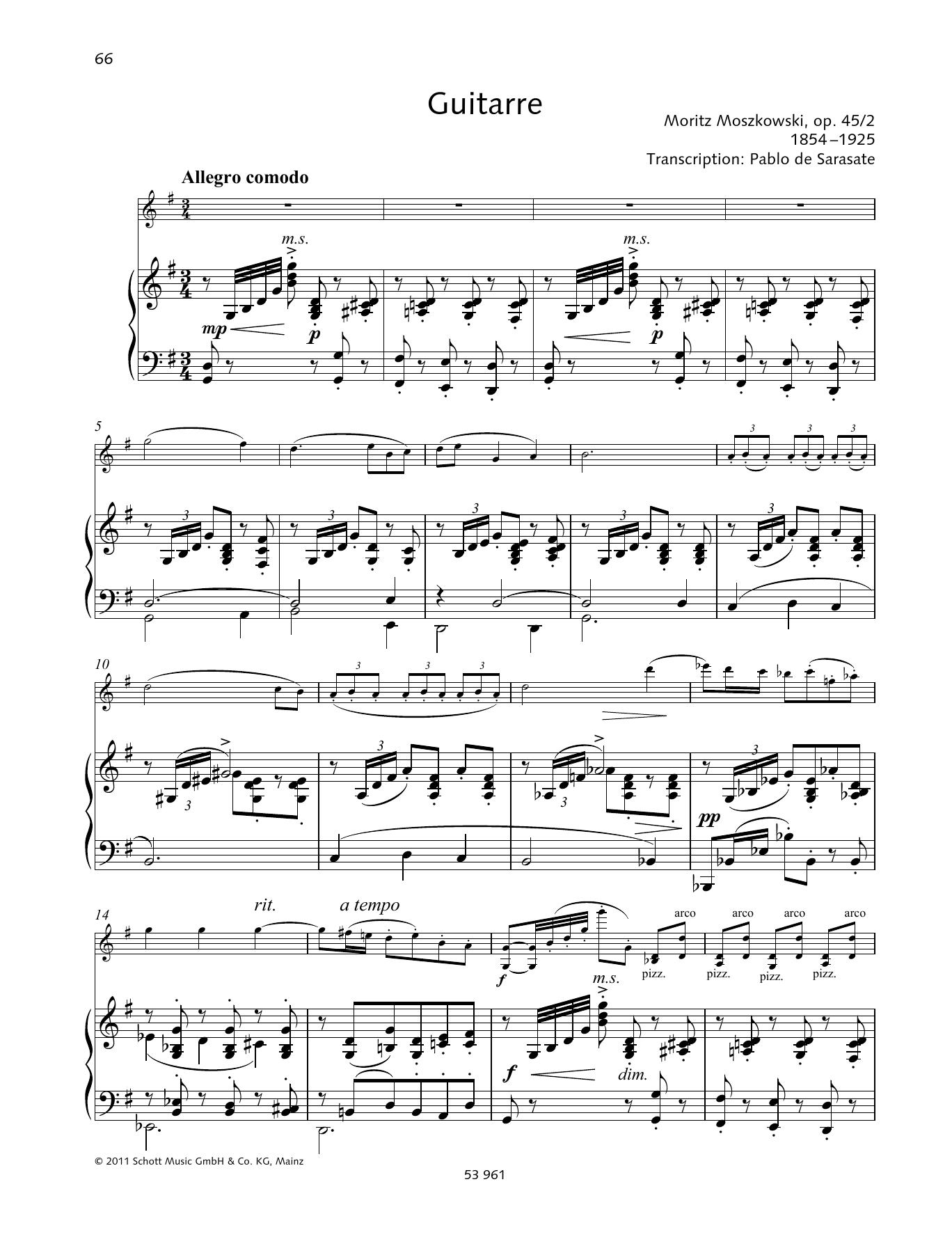 Guitarre Sheet Music