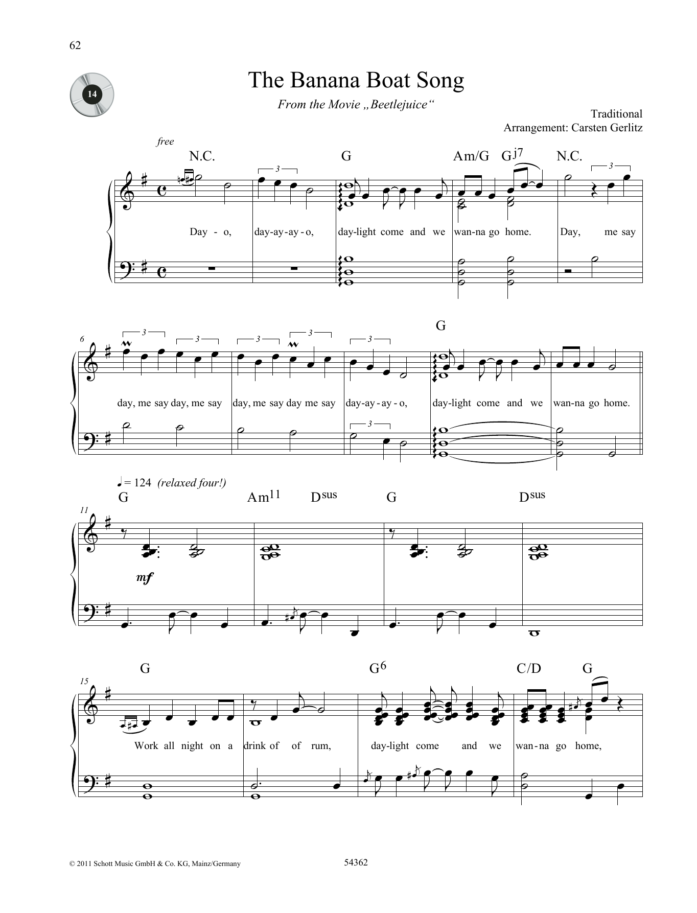 The Banana Boat Song Sheet Music