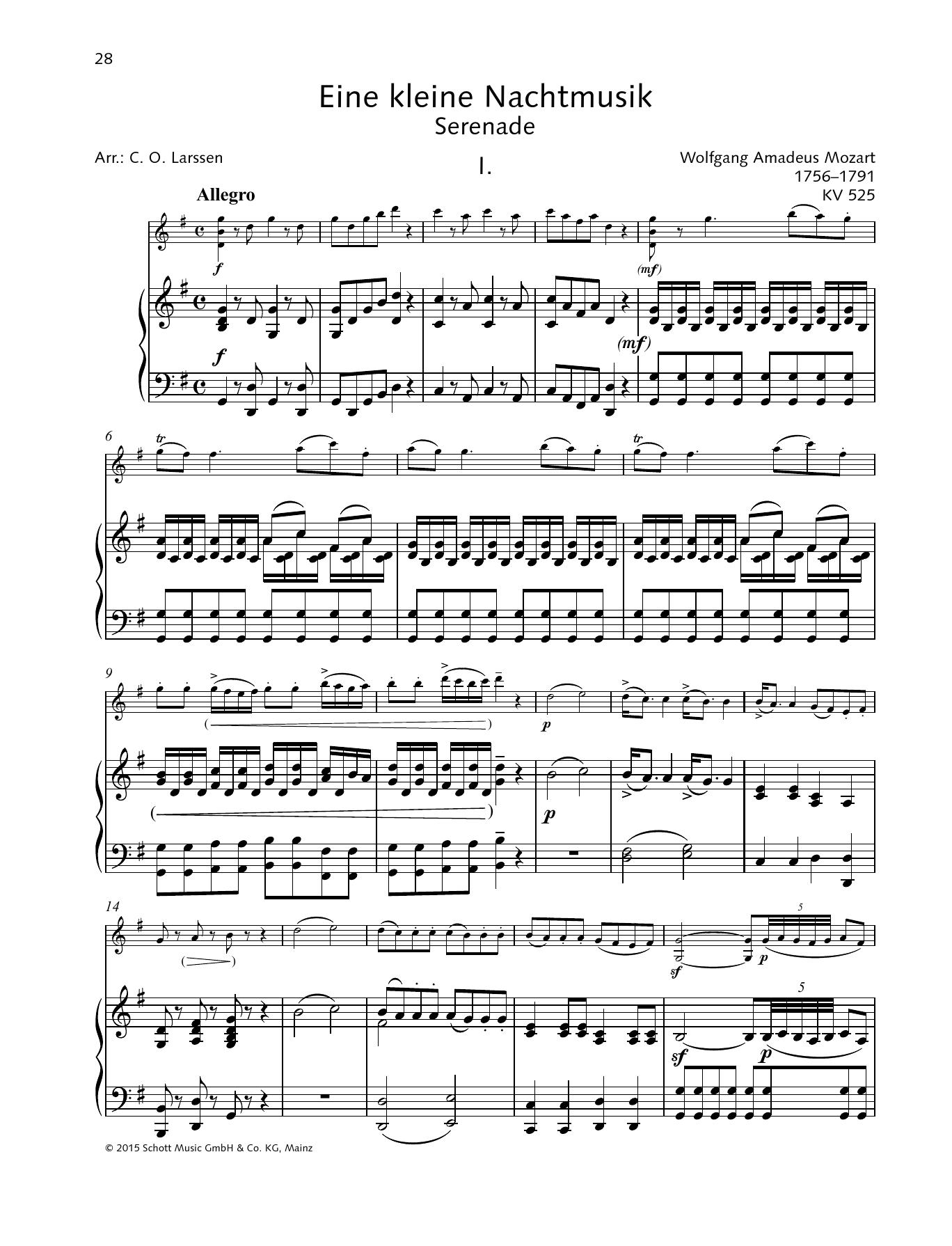 Eine kleine Nachtmusik Partituras Digitales