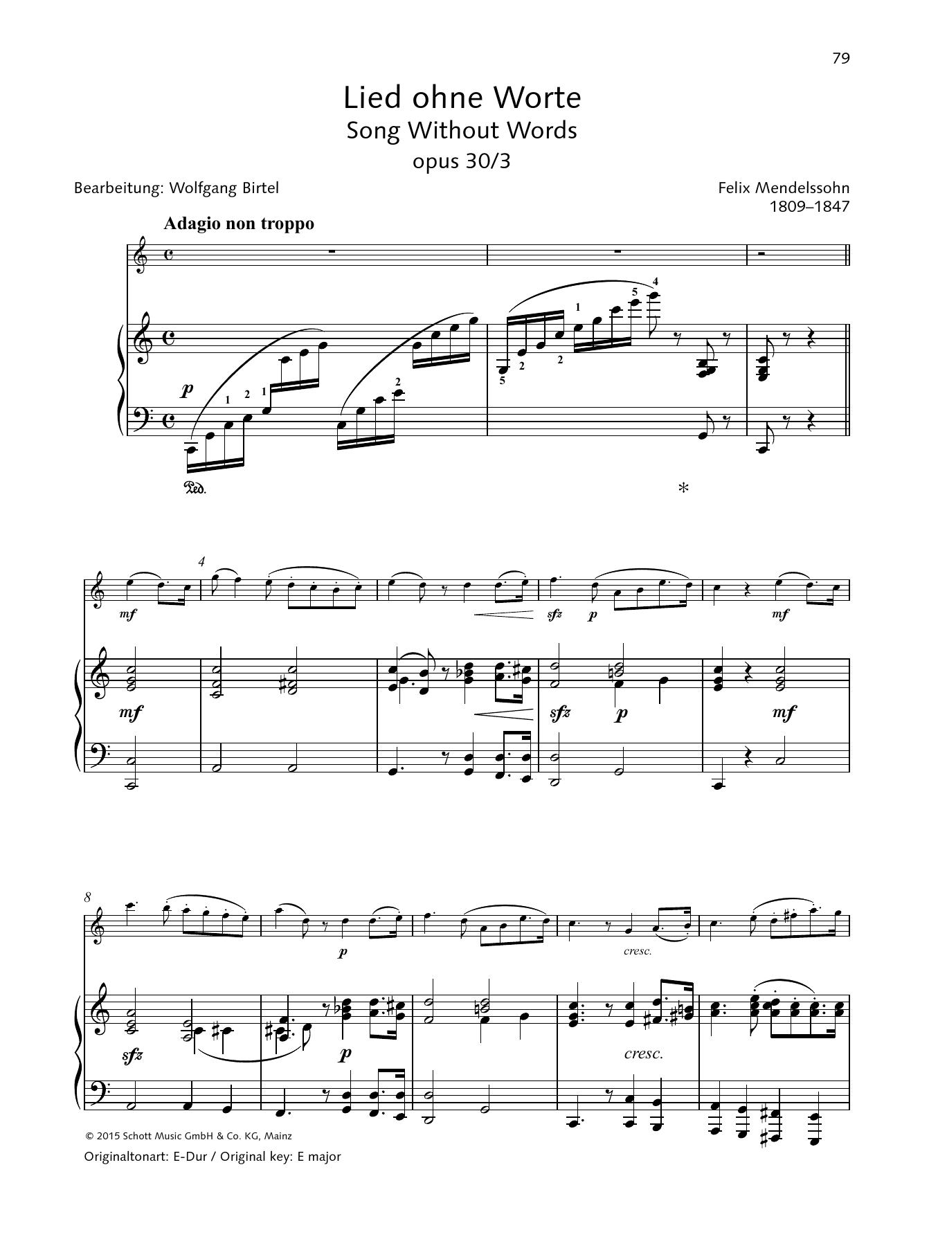 Song Without Words Sheet Music