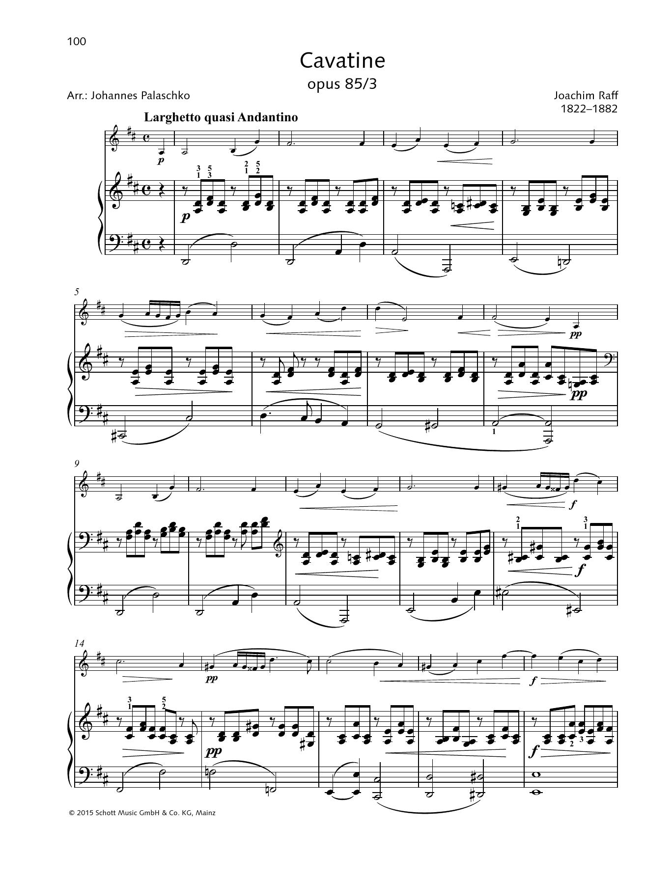 Cavatine Sheet Music