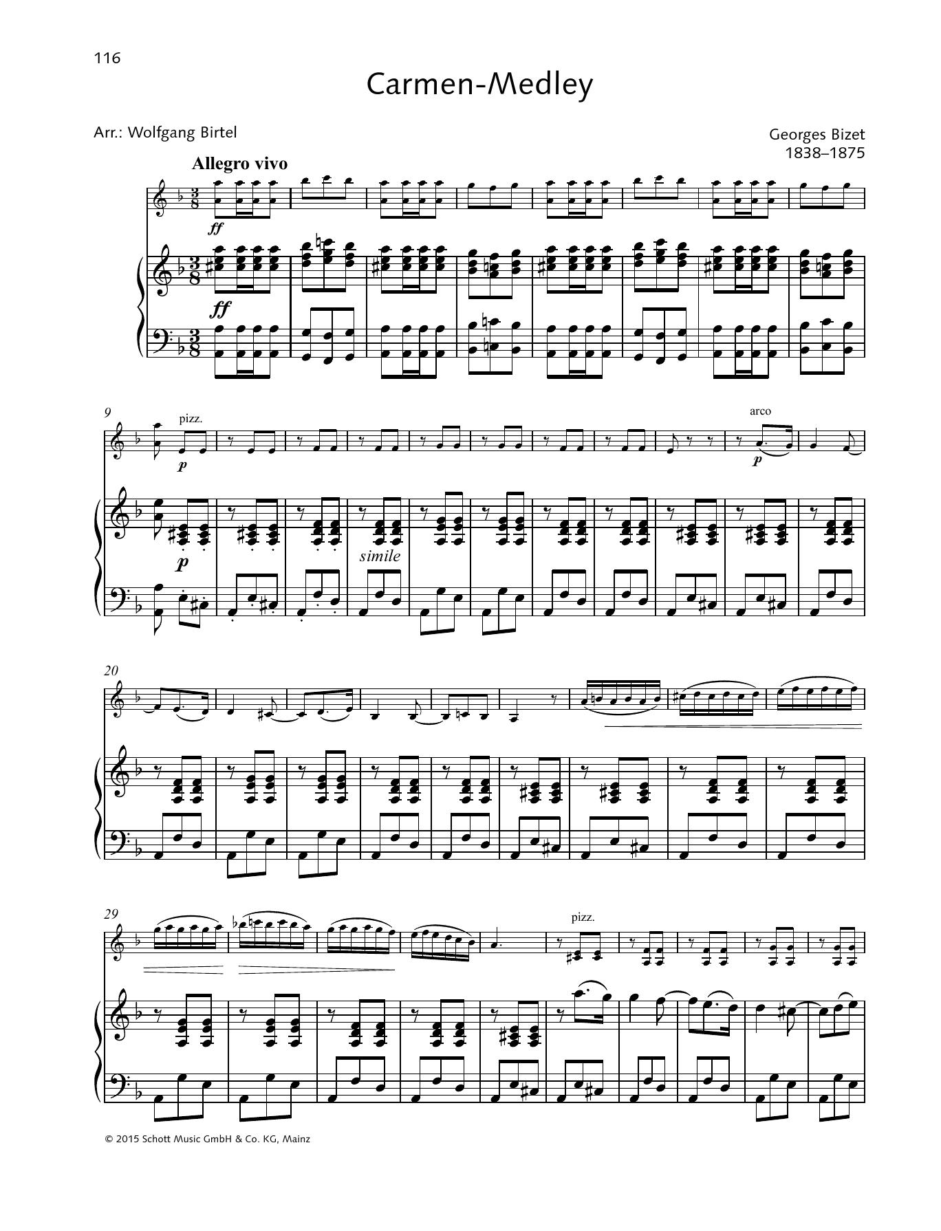 Carmen-Medley Sheet Music