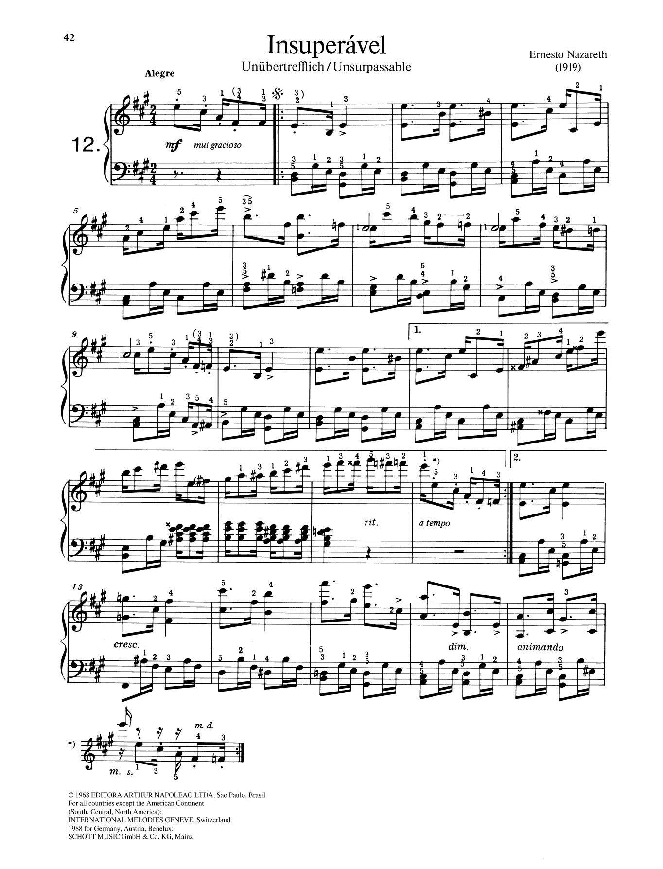 Insuperšvel Sheet Music